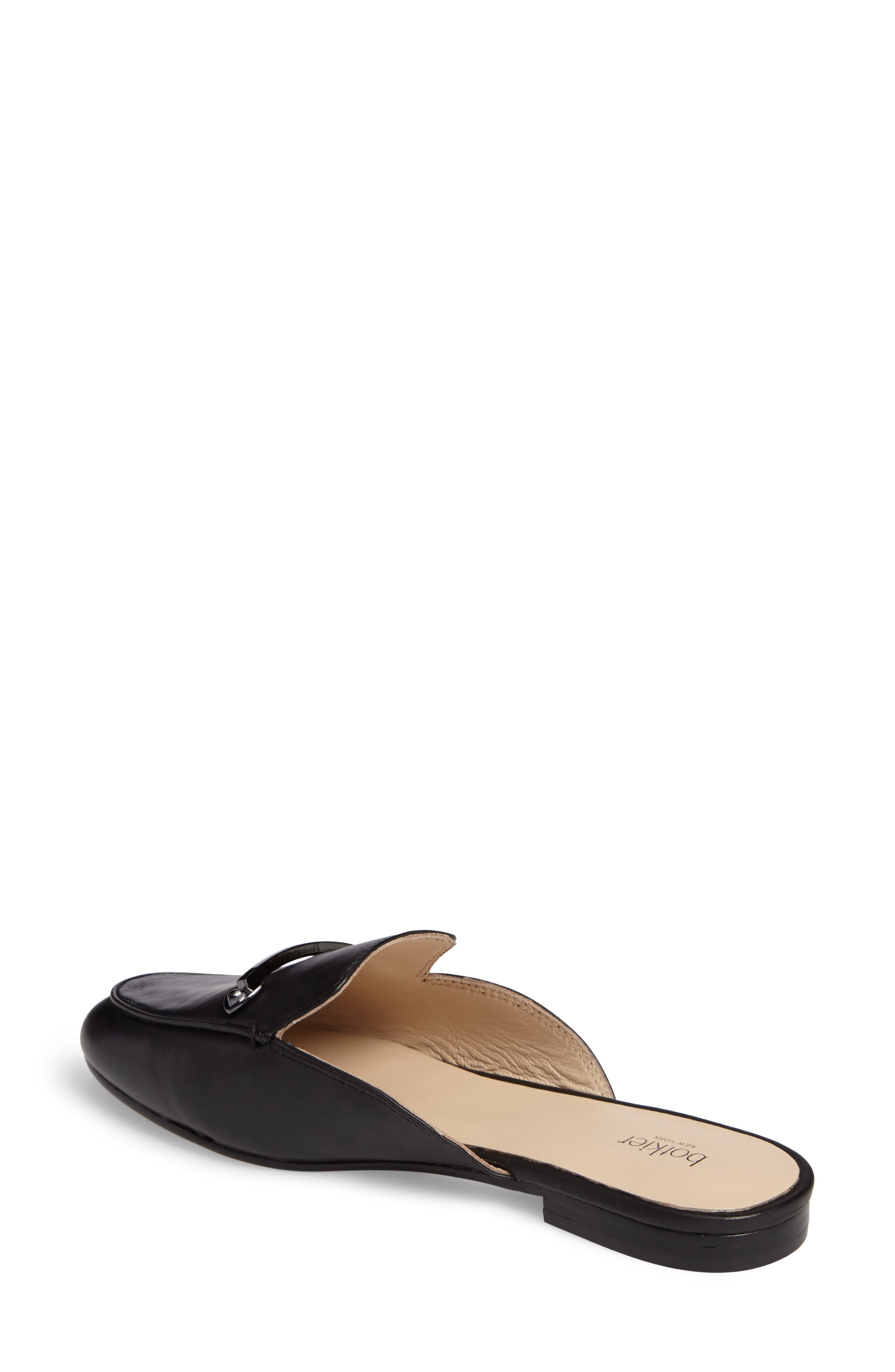 Clare Loafer Mule,                             Alternate thumbnail 2, color,                             Black