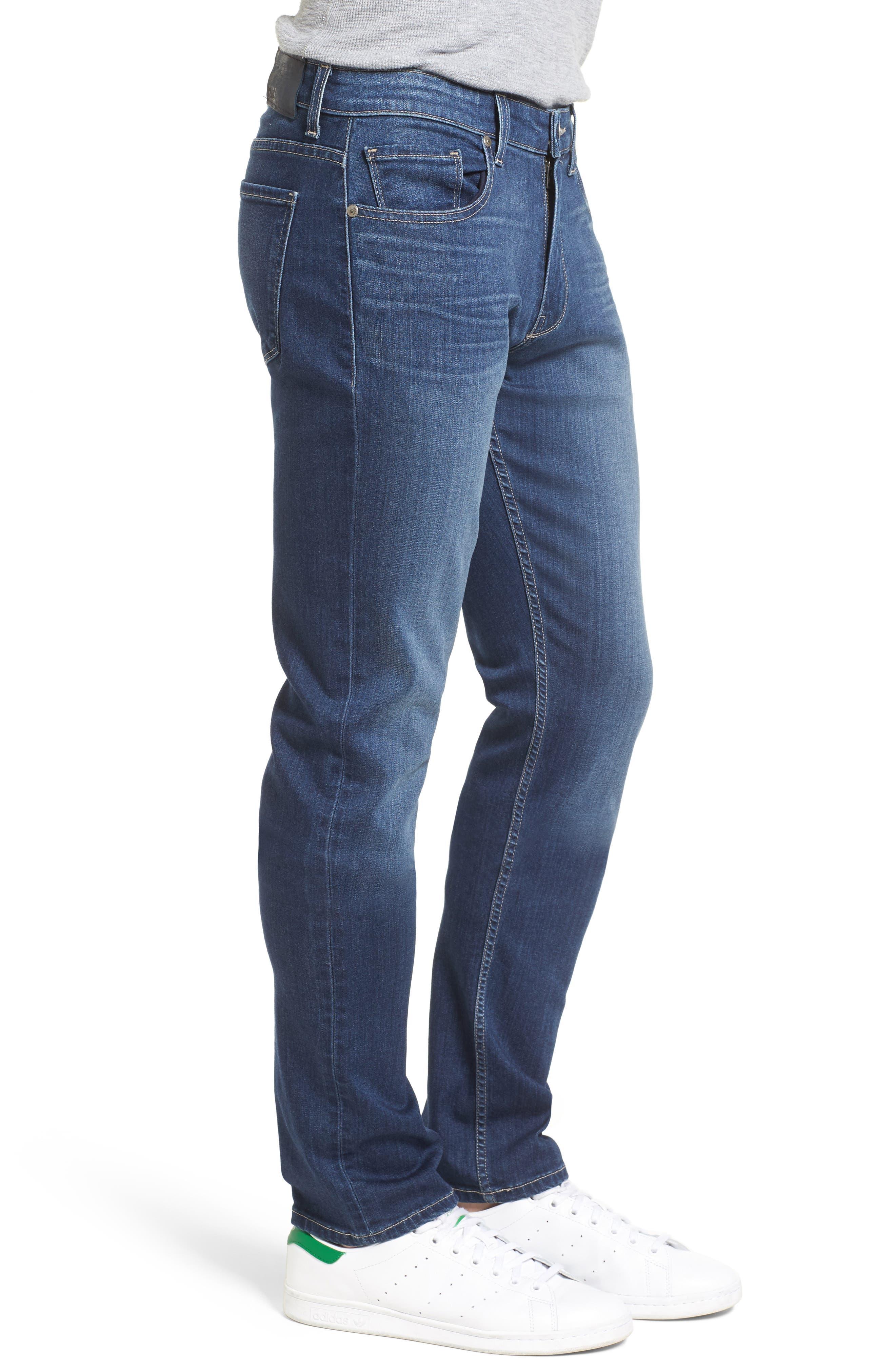 Transcend - Lennox Straight Leg Jeans,                             Alternate thumbnail 3, color,                             Leo