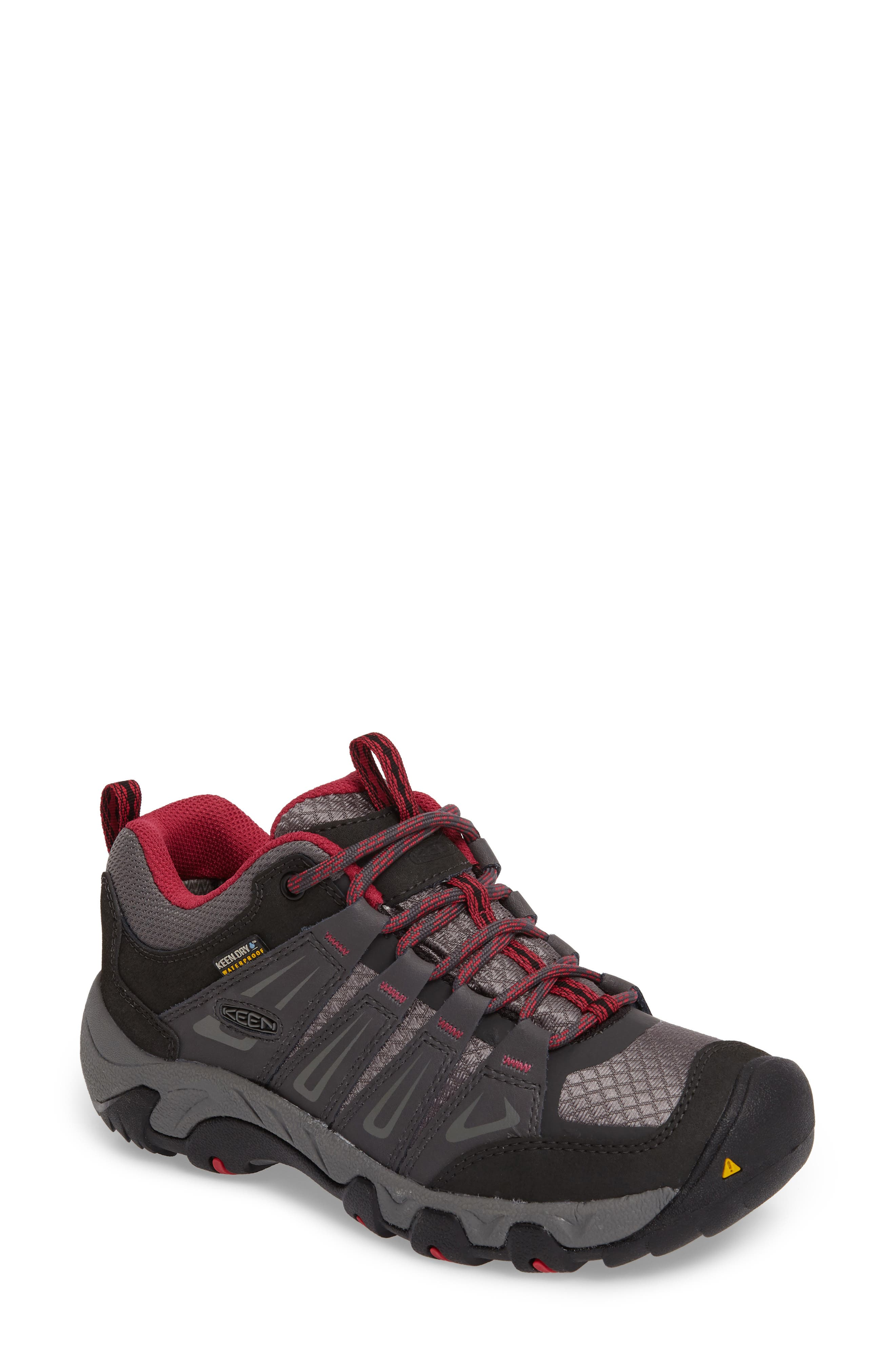 Oakridge Waterproof Hiking Shoe,                             Main thumbnail 1, color,                             Magnet/ Rose Fabric