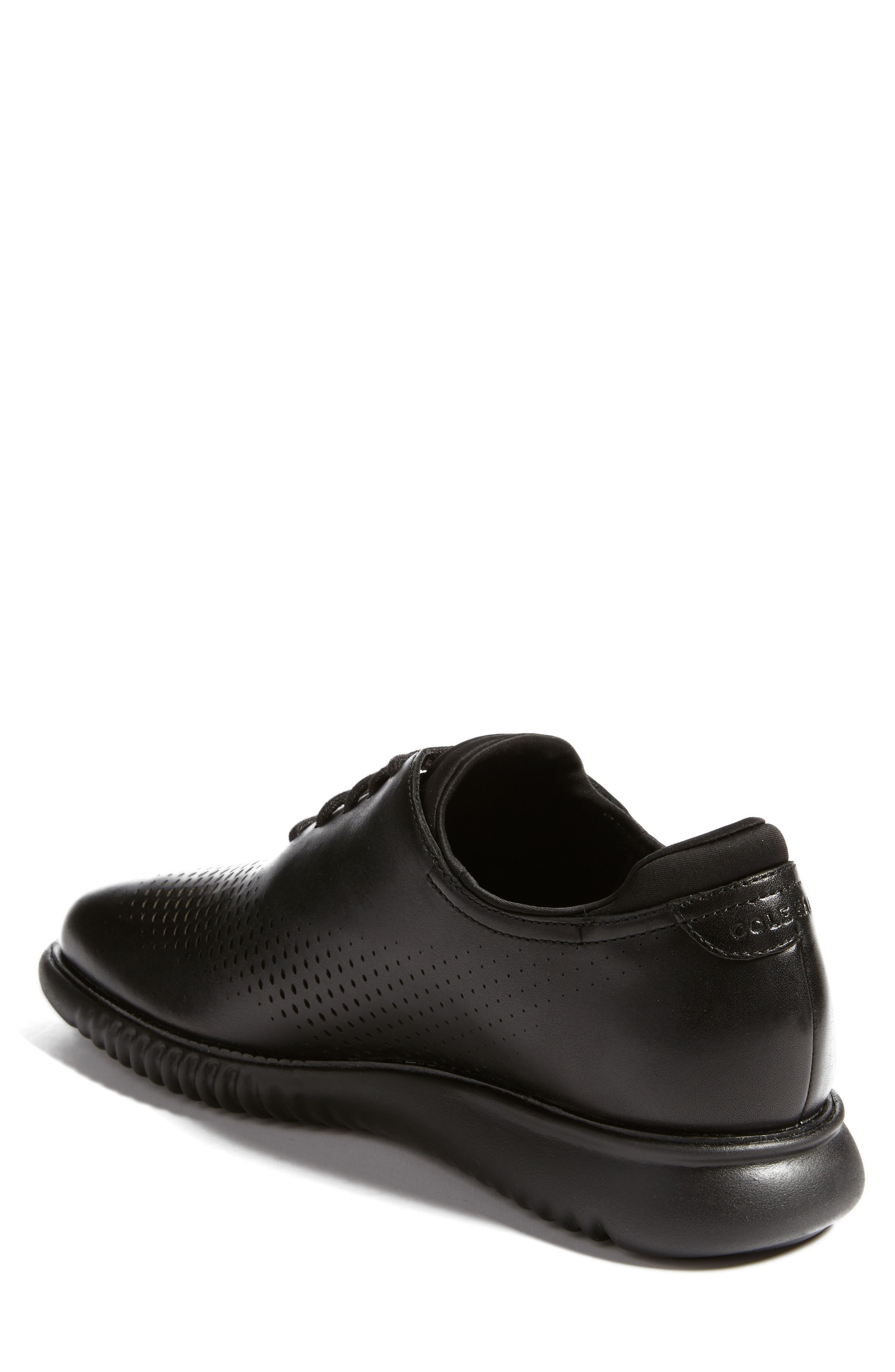 2.ZeroGrand Wingtip,                             Alternate thumbnail 2, color,                             Black Leather