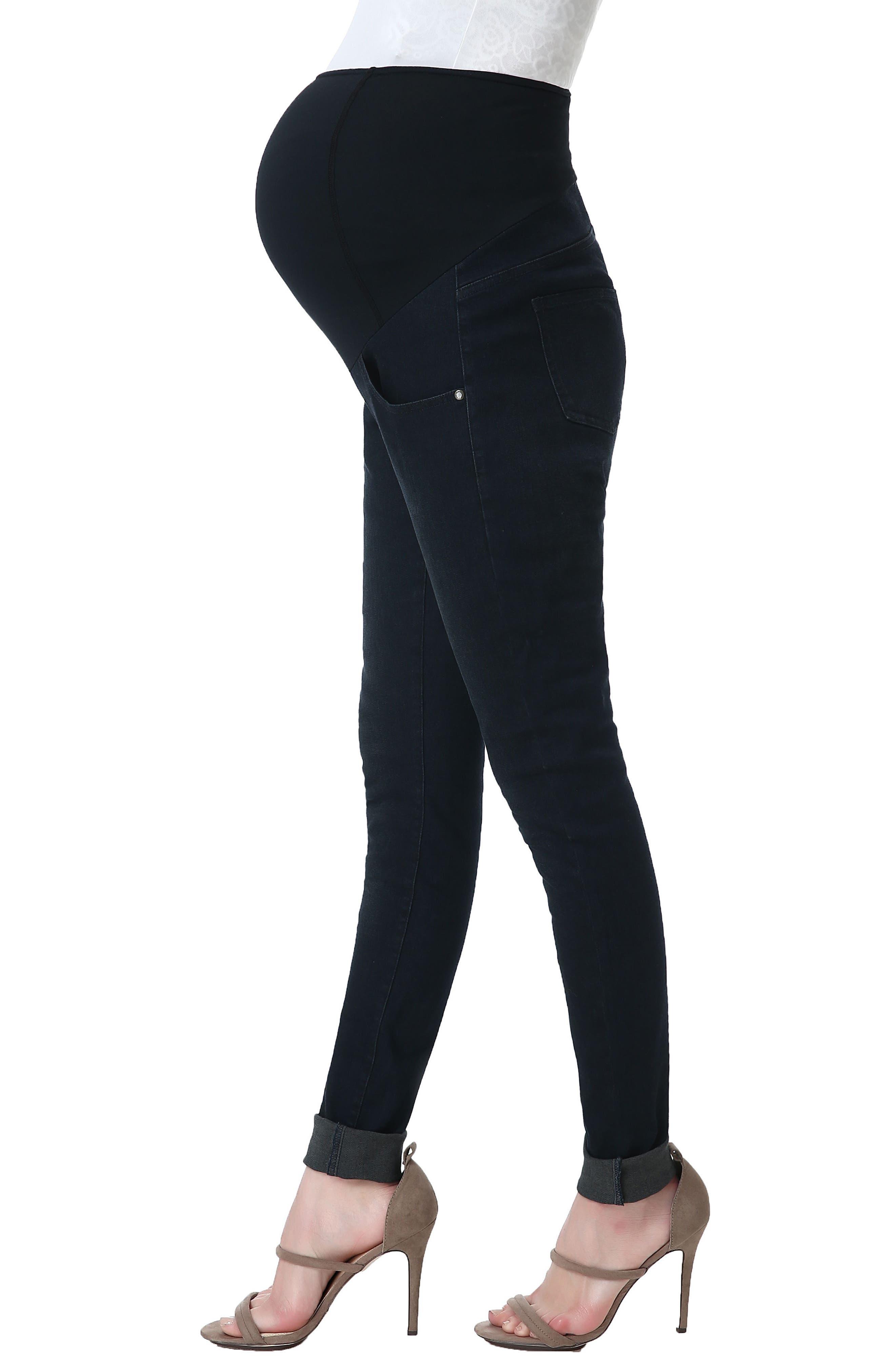 Alternate Image 5  - Kimi and Kai Rae Maternity Skinny Jeans