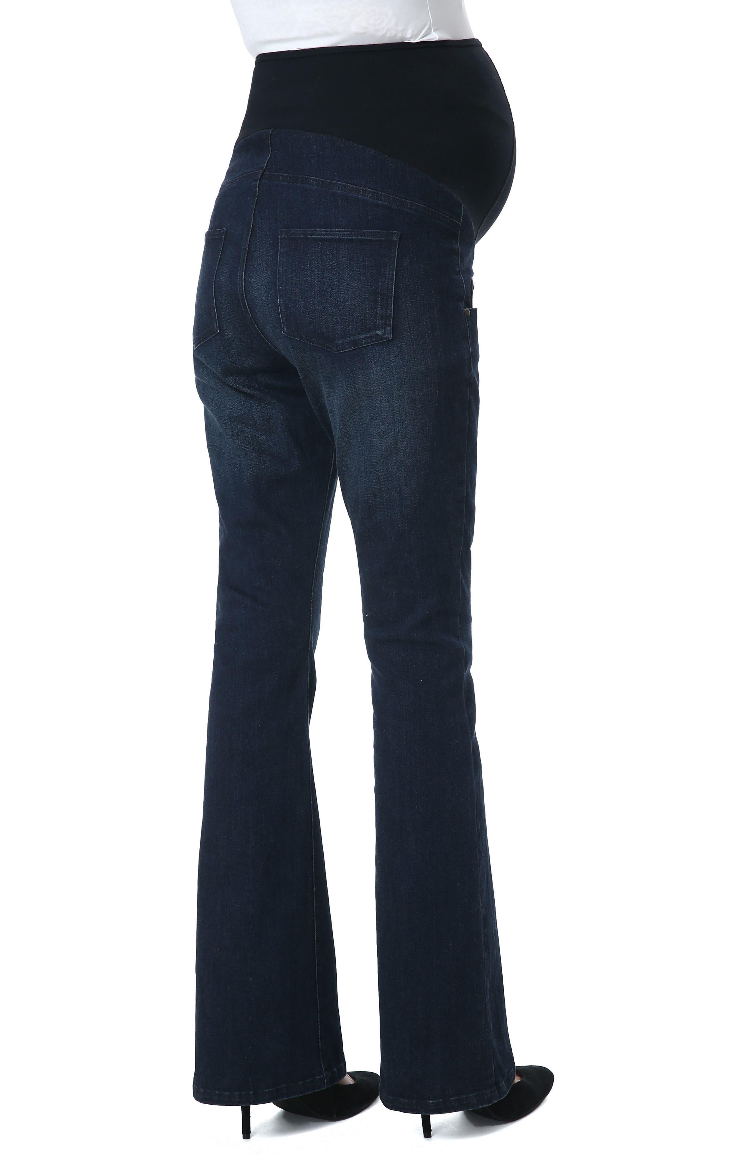 Leni Maternity Bootcut Jeans,                             Alternate thumbnail 2, color,                             Black/ Blue