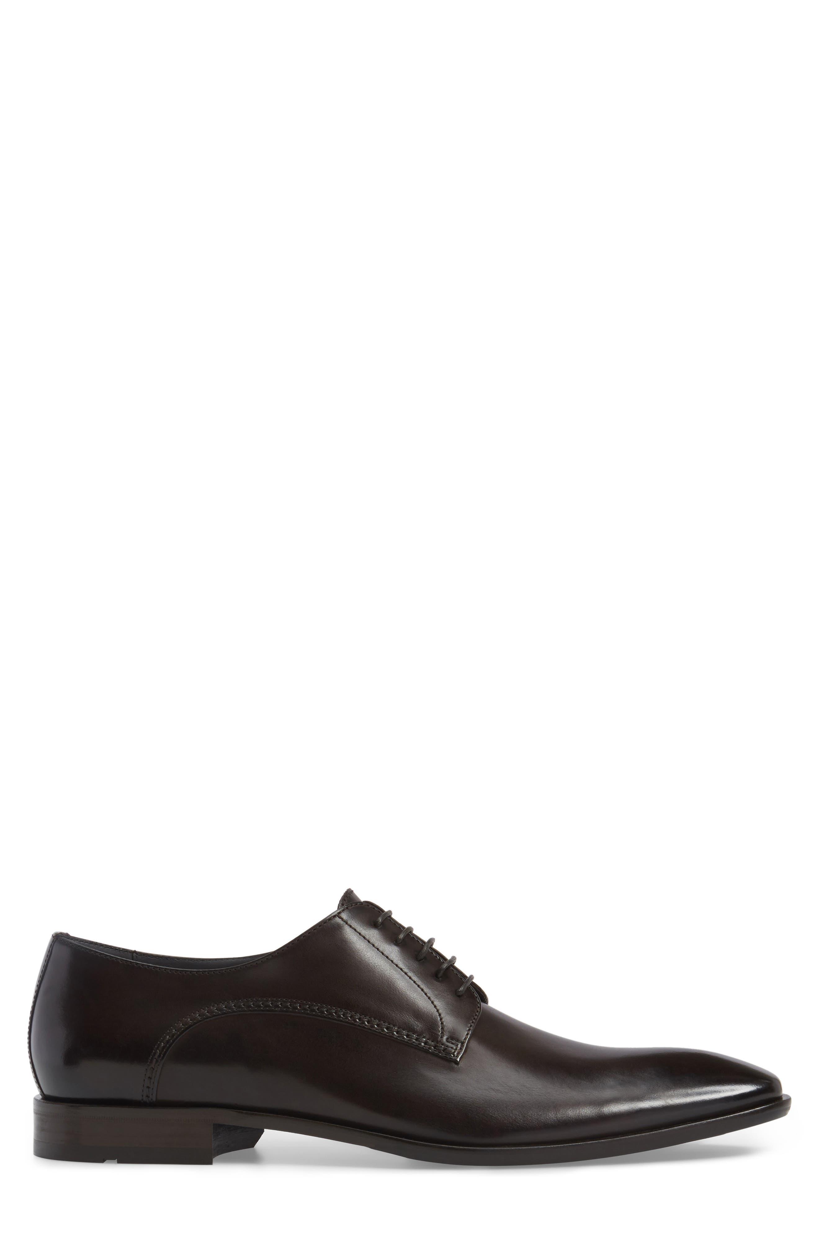 Carmons Plain Toe Derby,                             Alternate thumbnail 3, color,                             Dark Brown Leather