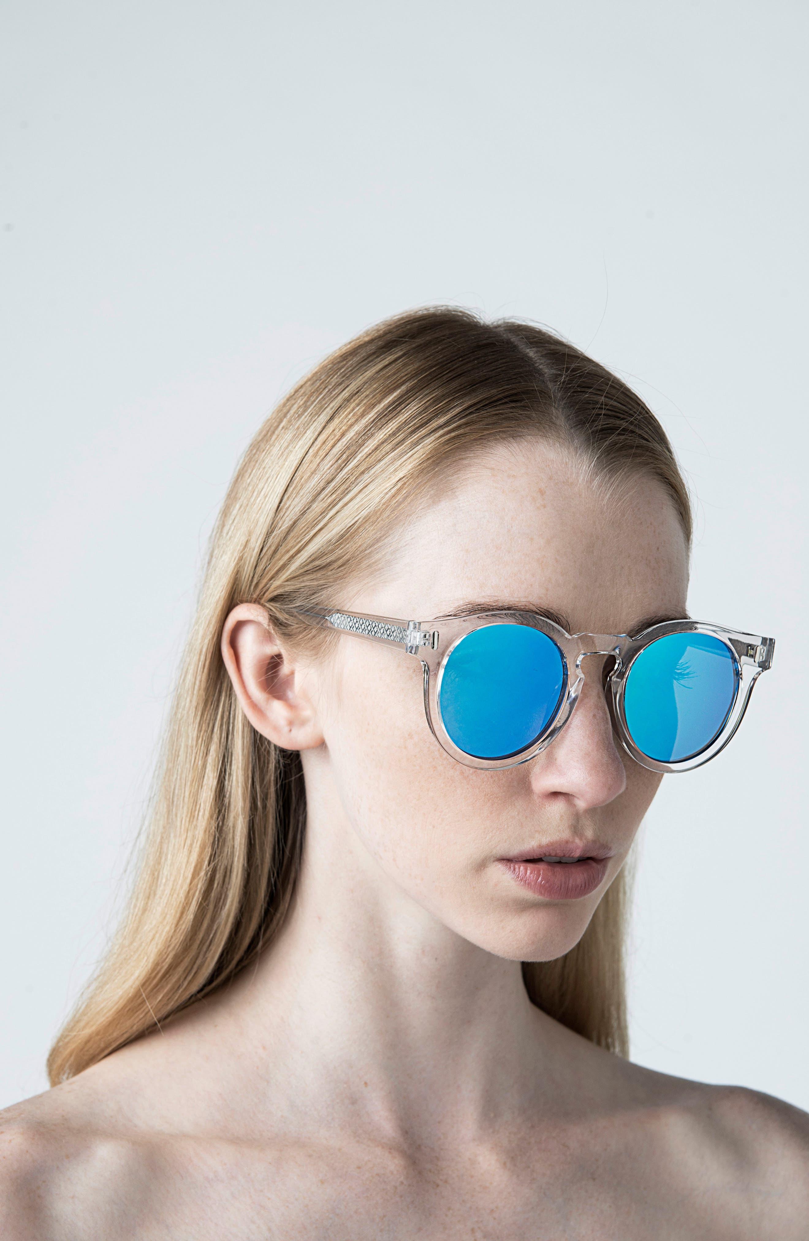 Hill 50mm Polarized Sunglasses,                             Alternate thumbnail 2, color,                             Ocean Eyes Blue