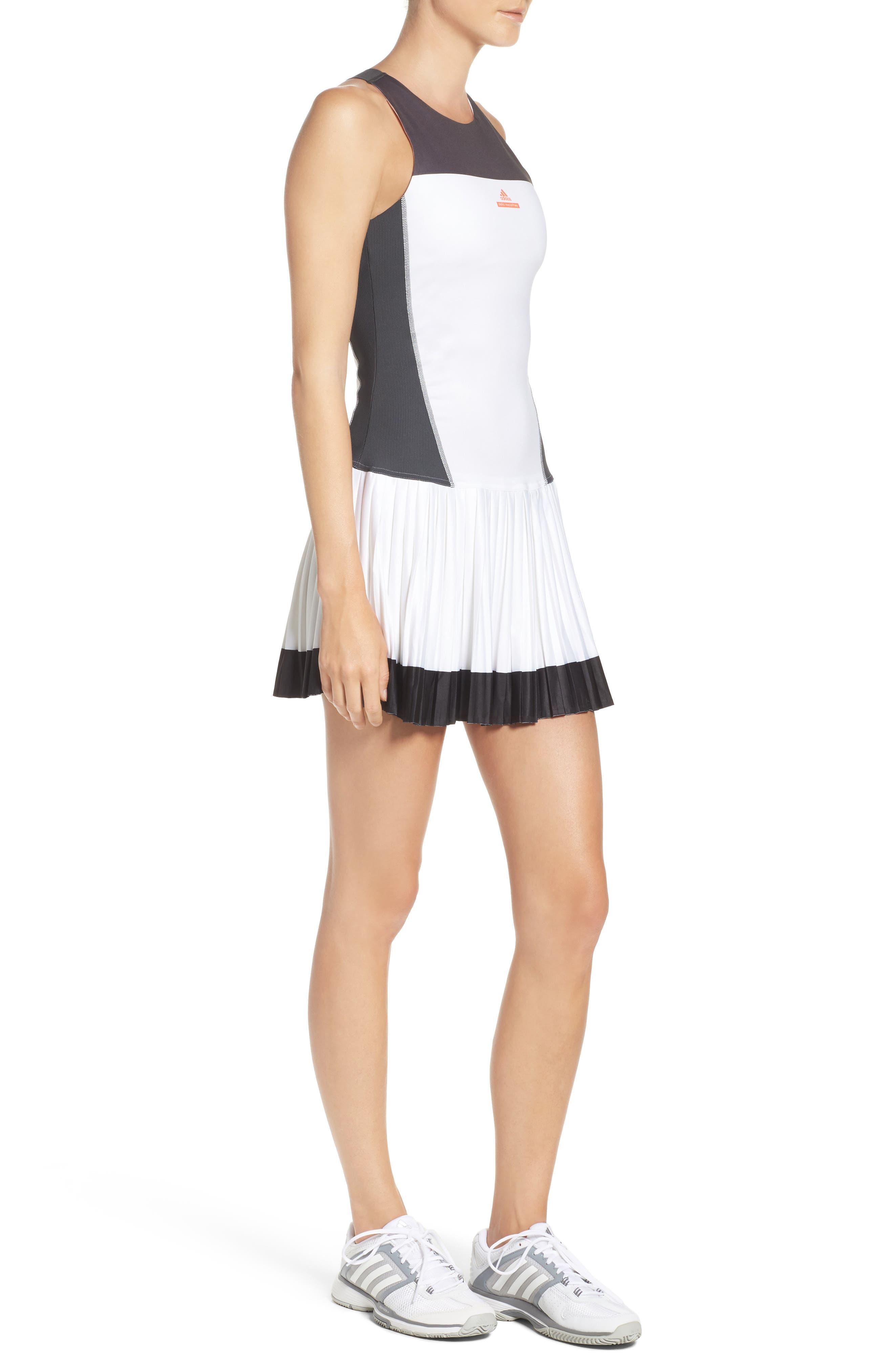 Barricade Tennis Dress & Shorts Set,                             Alternate thumbnail 3, color,                             White/ Solid Grey
