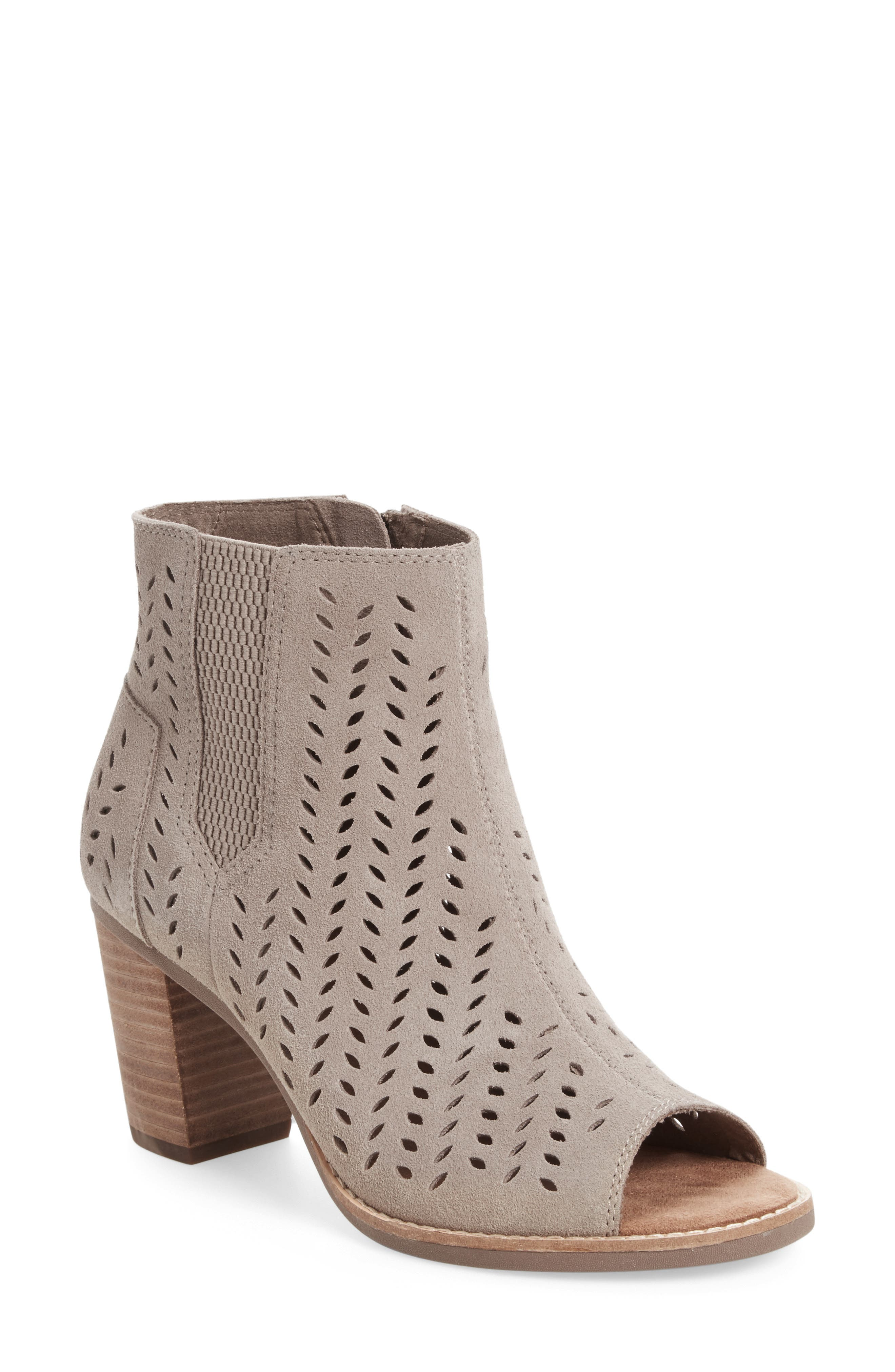 Alternate Image 1 Selected - TOMS Majorca Perforated Suede Bootie (Women)