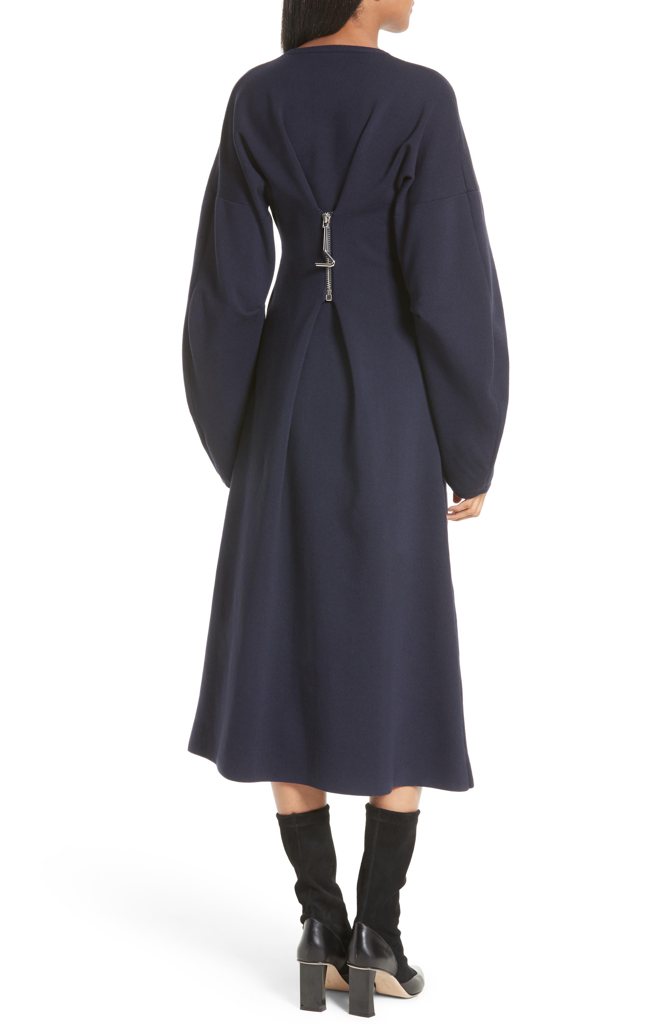 Alternate Image 2  - Tibi Sculpted Zip Back Midi Dress