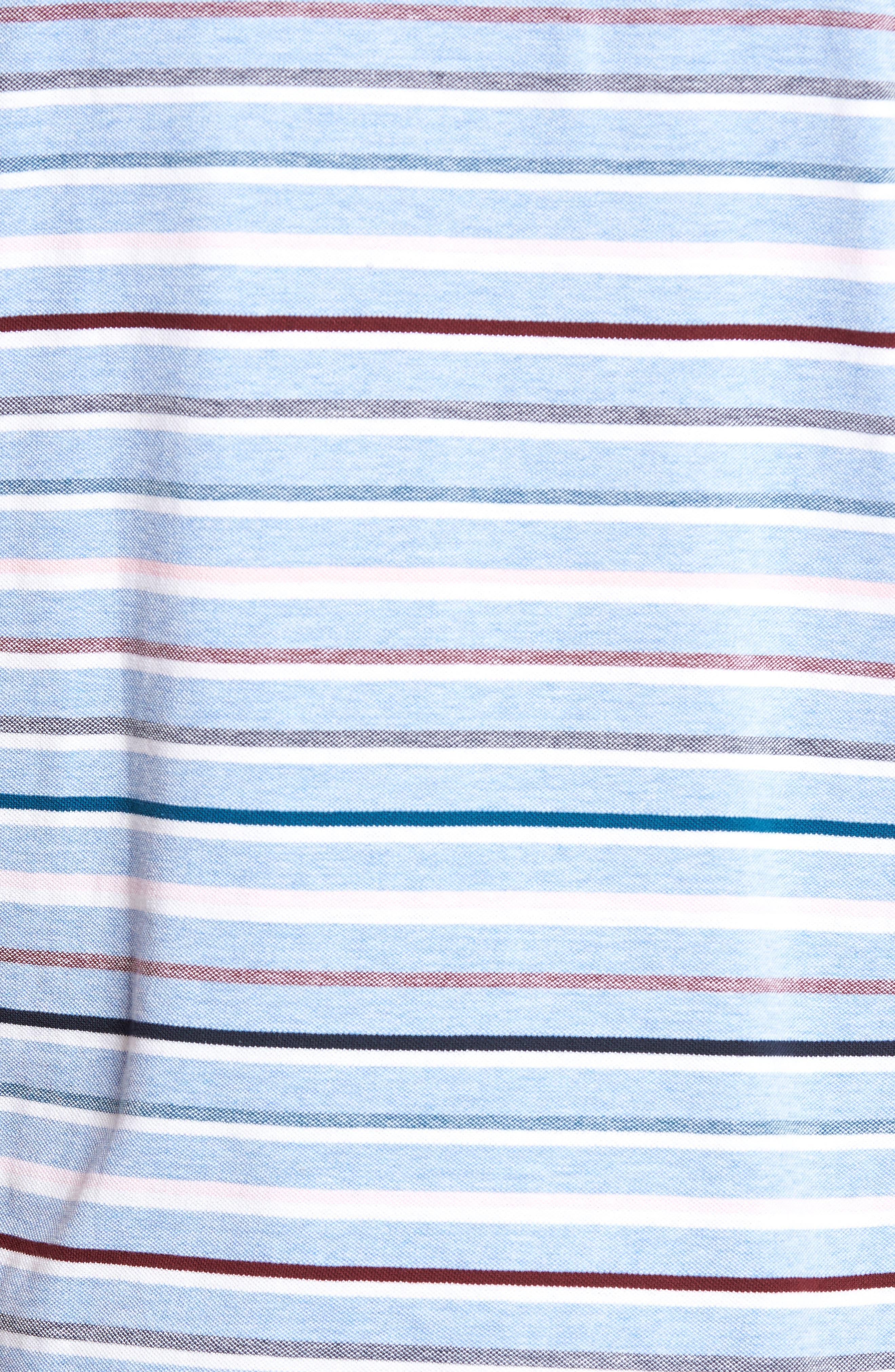 Gowan Hill Sports Fit Cotton Polo,                             Alternate thumbnail 5, color,                             Stonewash
