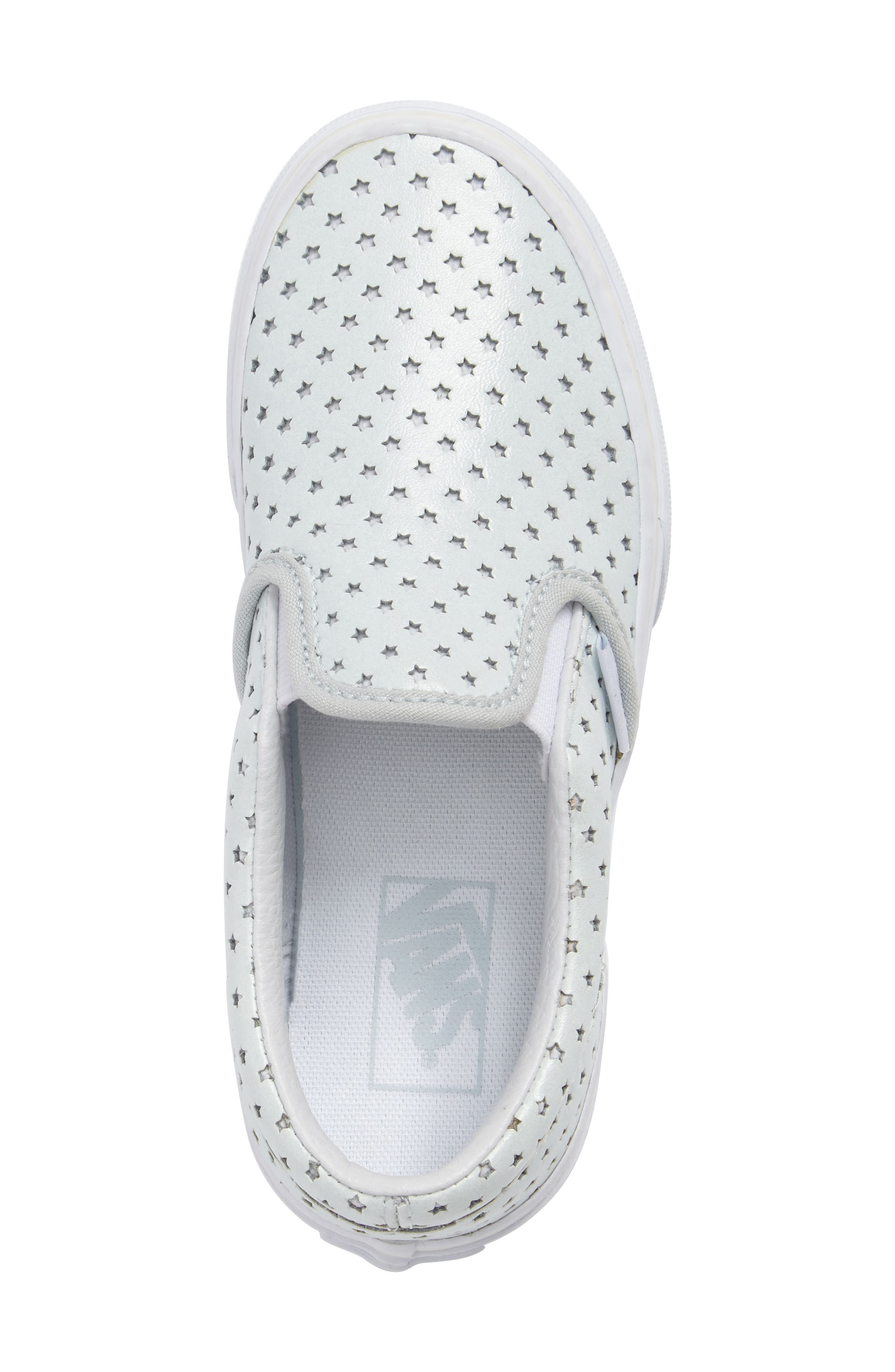 Classic Perforated Slip-On Sneaker,                             Alternate thumbnail 4, color,                             Stars Pearlized Leather
