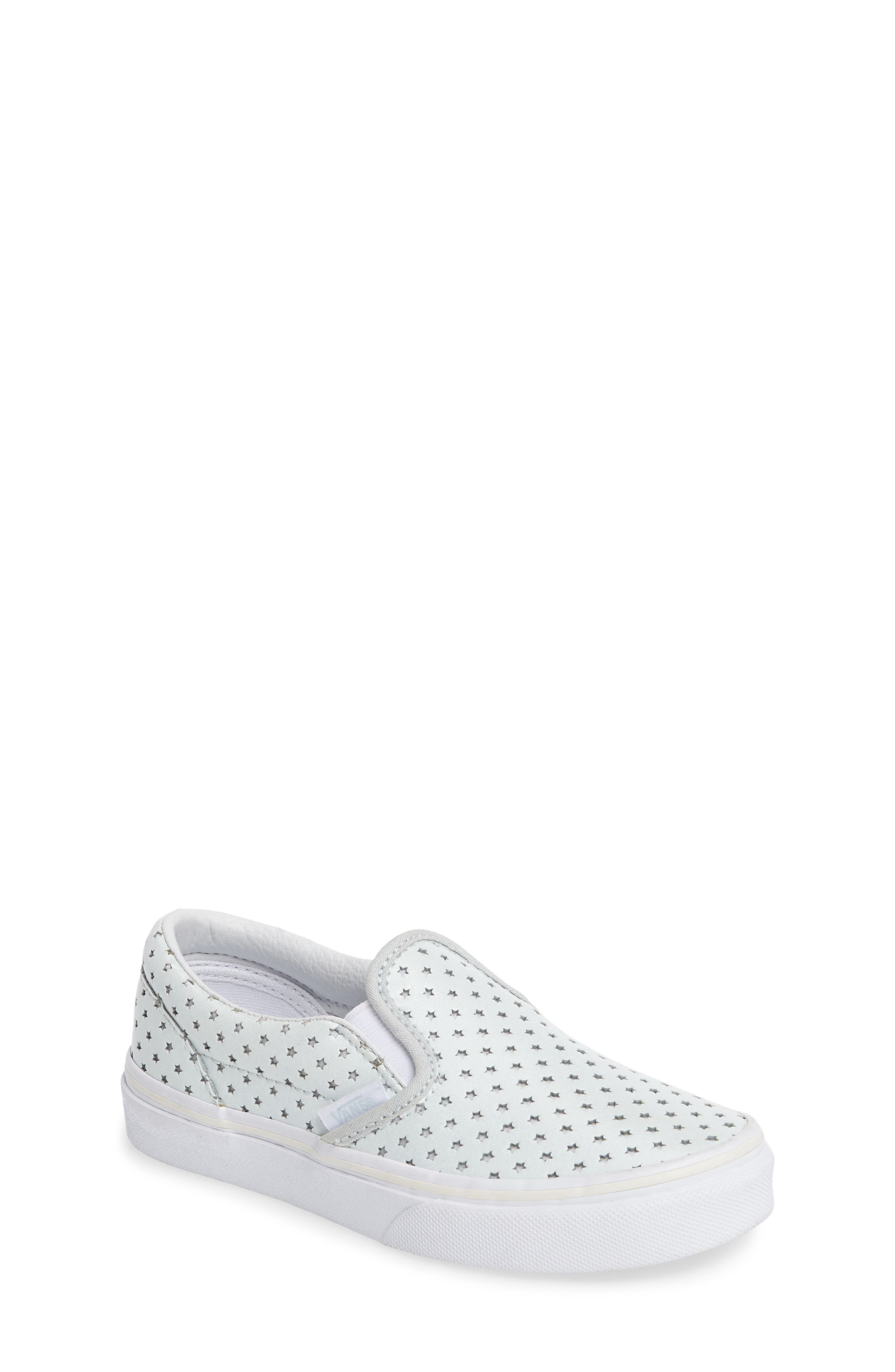Classic Perforated Slip-On Sneaker,                             Main thumbnail 1, color,                             Stars Pearlized Leather
