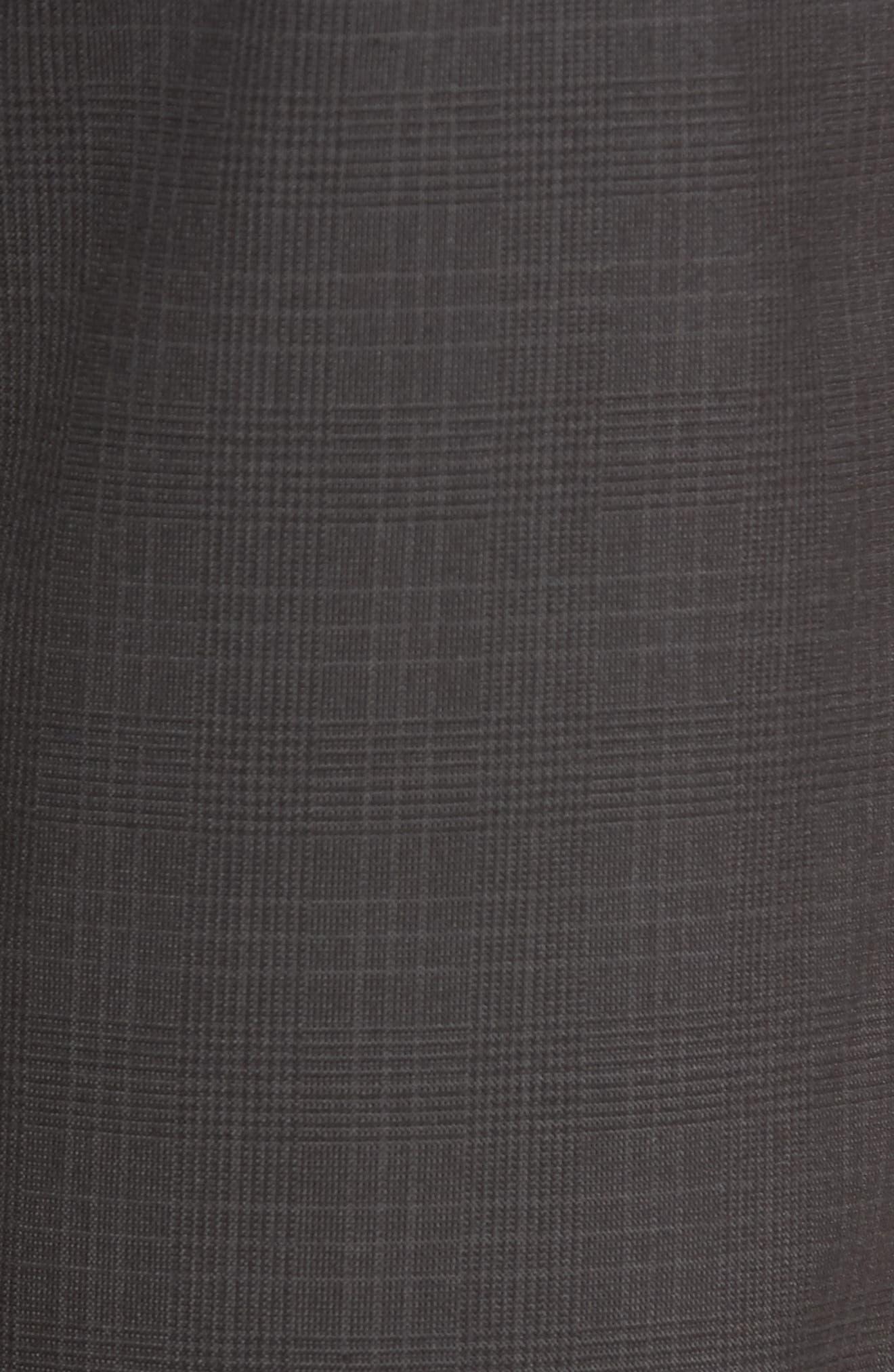 Delta Glen Plaid Shorts,                             Alternate thumbnail 5, color,                             Black
