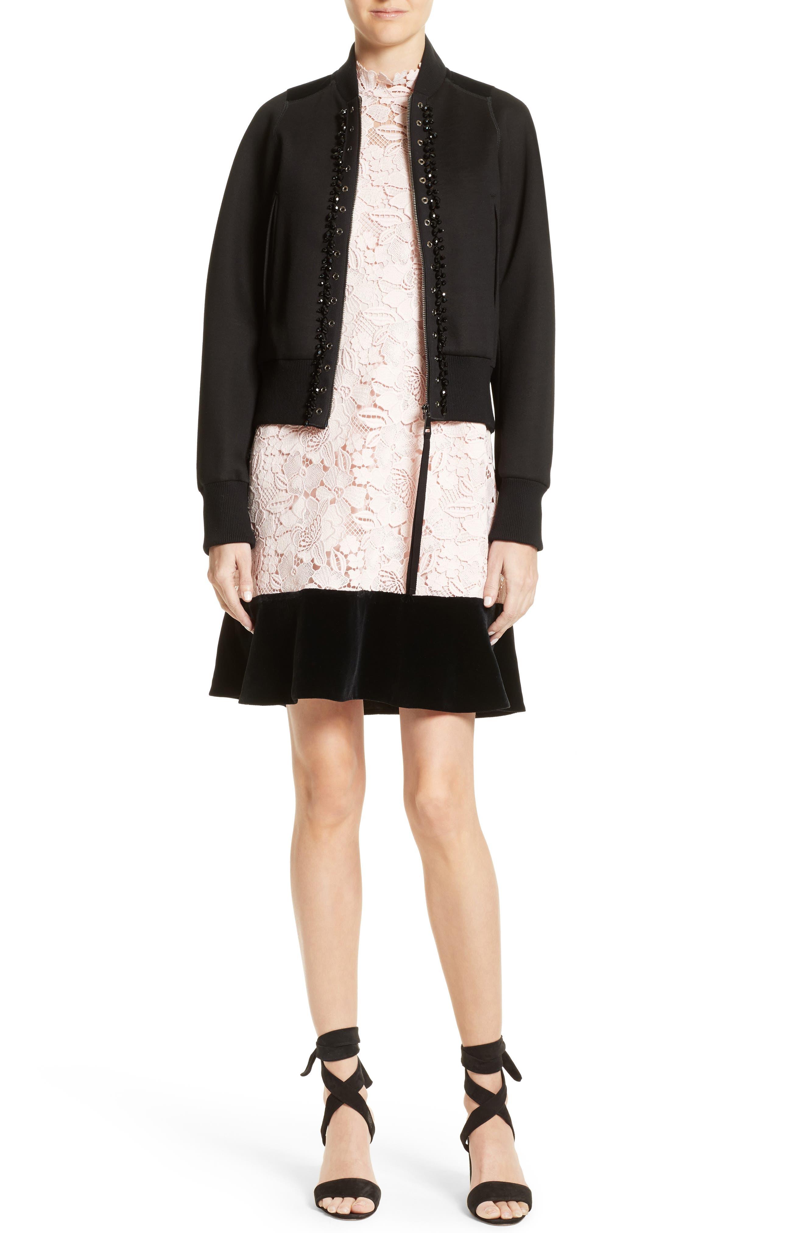 Alternate Image 6  - N°21 Lace & Velvet Shift Dress