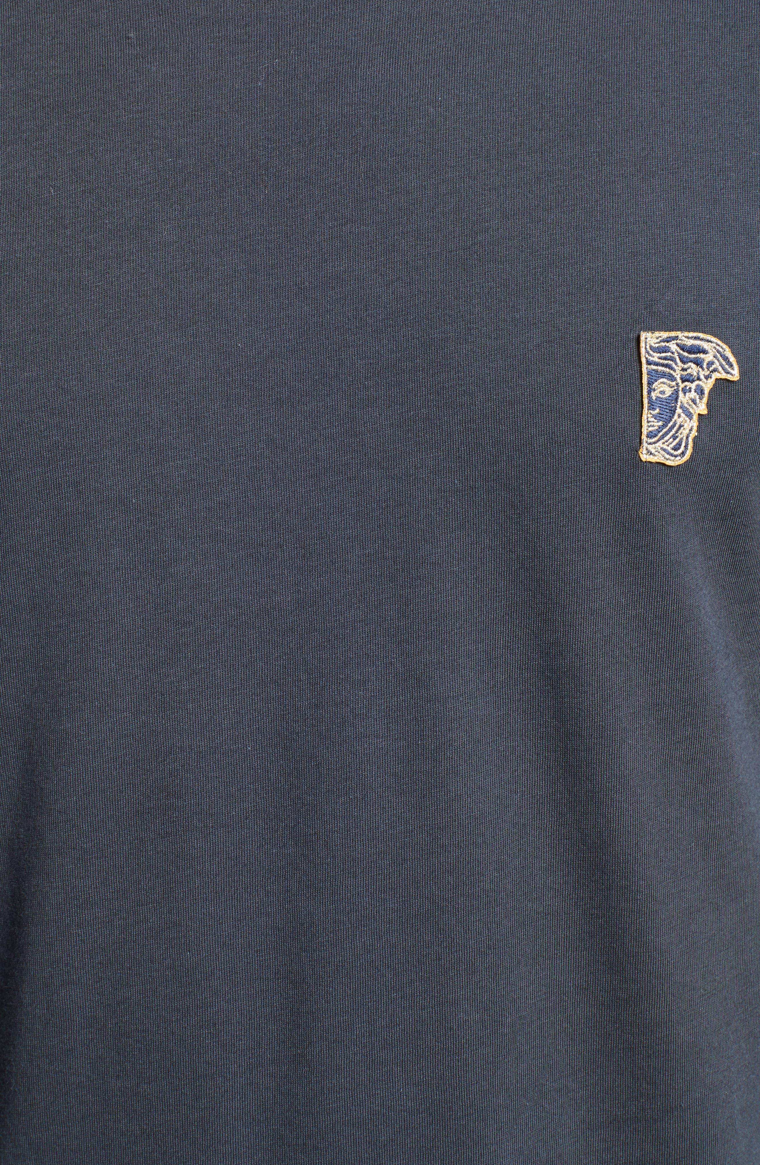 Half Medusa Patch T-Shirt,                             Alternate thumbnail 5, color,                             Navy/ Gold