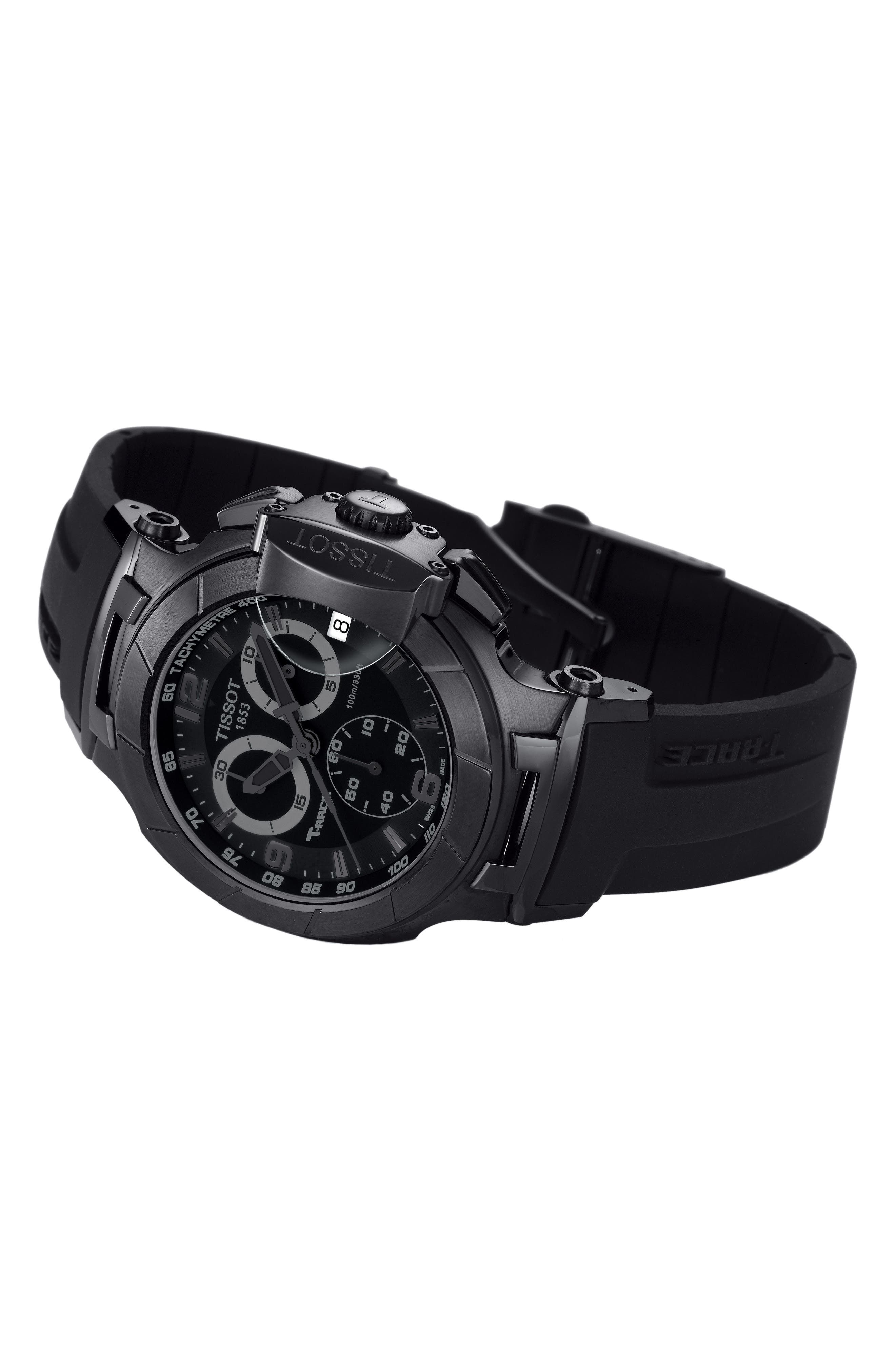 Alternate Image 2  - Tissot T-Race Chronograph Silicone Strap Watch, 50mm