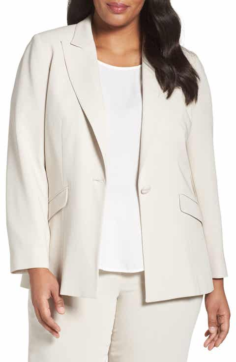 Louben Peak Lapel Suit Jacket (Plus Size) Online Cheap
