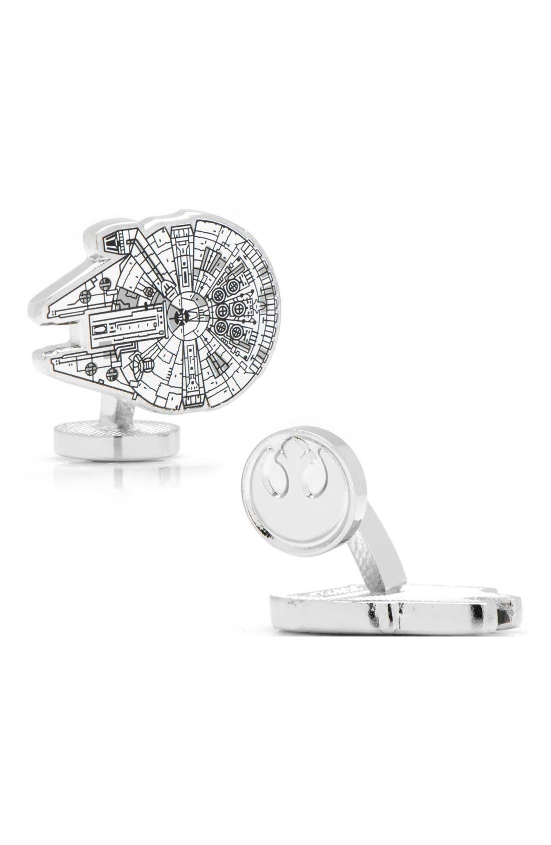 Alternate Image 1 Selected - Cufflinks, Inc. 'Star Wars™ - Millennium Falcon Blueprint' Cuff Links