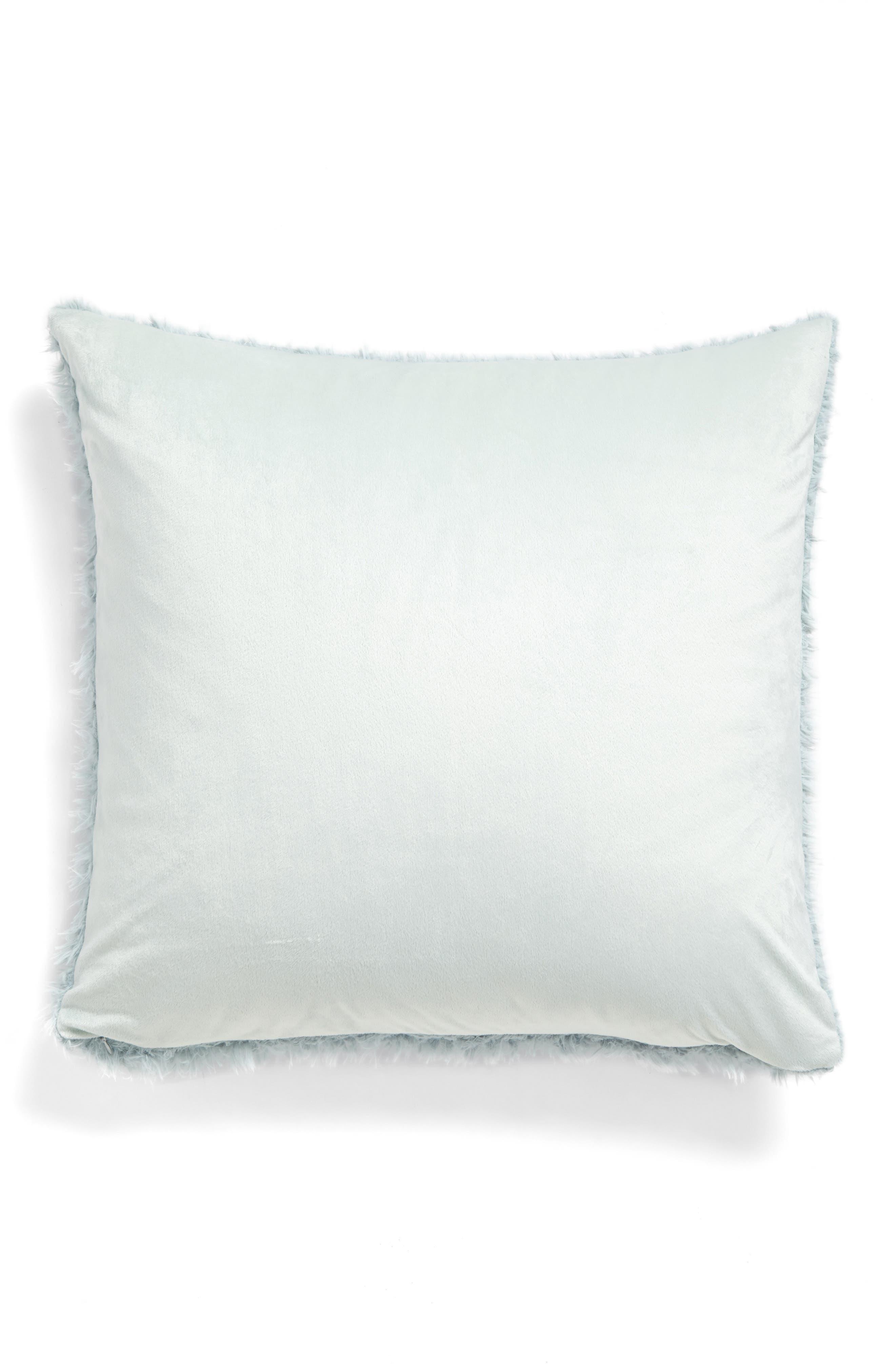 Shaggy Plush Pillow,                             Alternate thumbnail 2, color,                             Green Soft