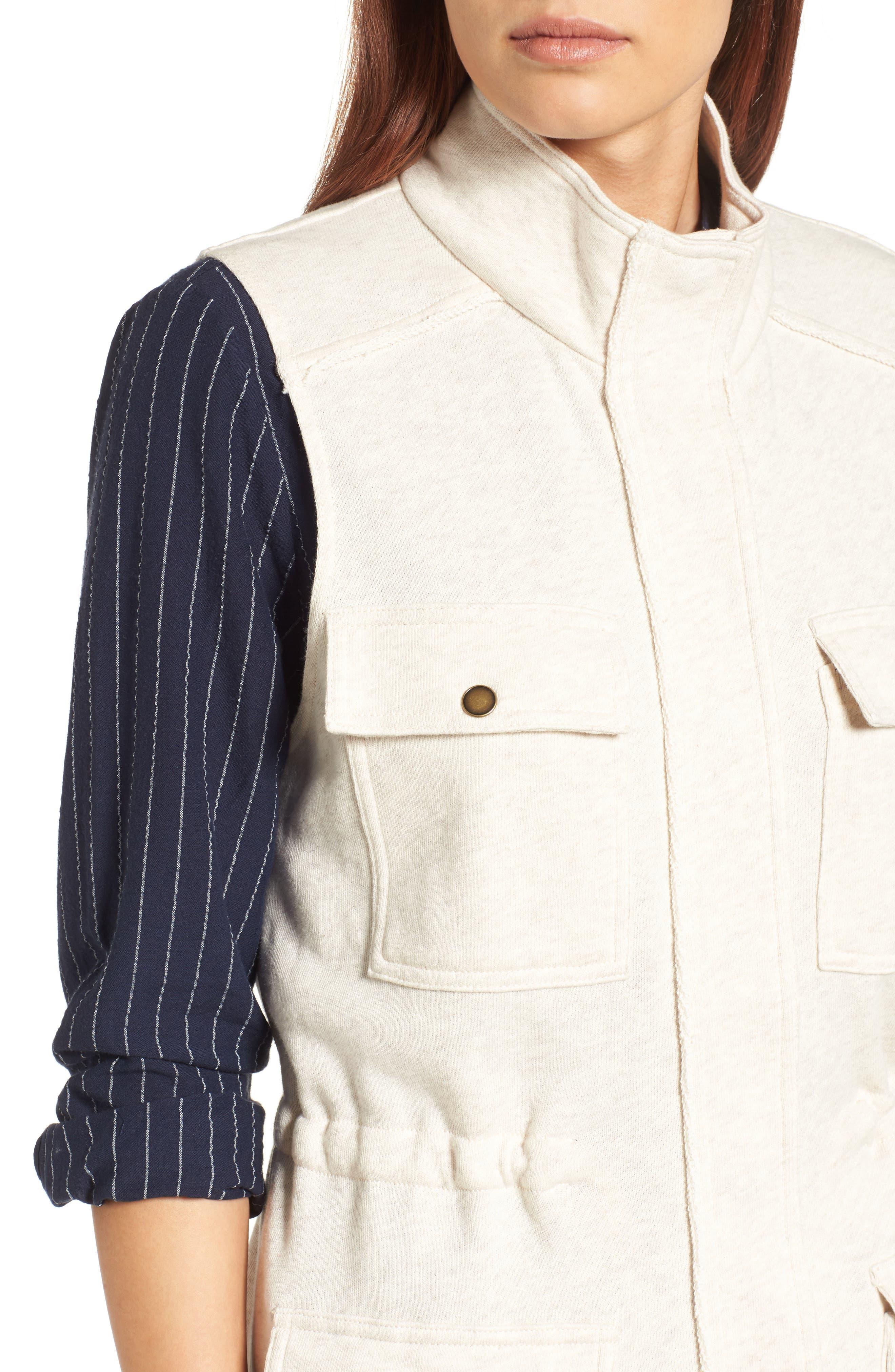 Alternate Image 4  - Caslon® Utility Vest (Regular & Petite)
