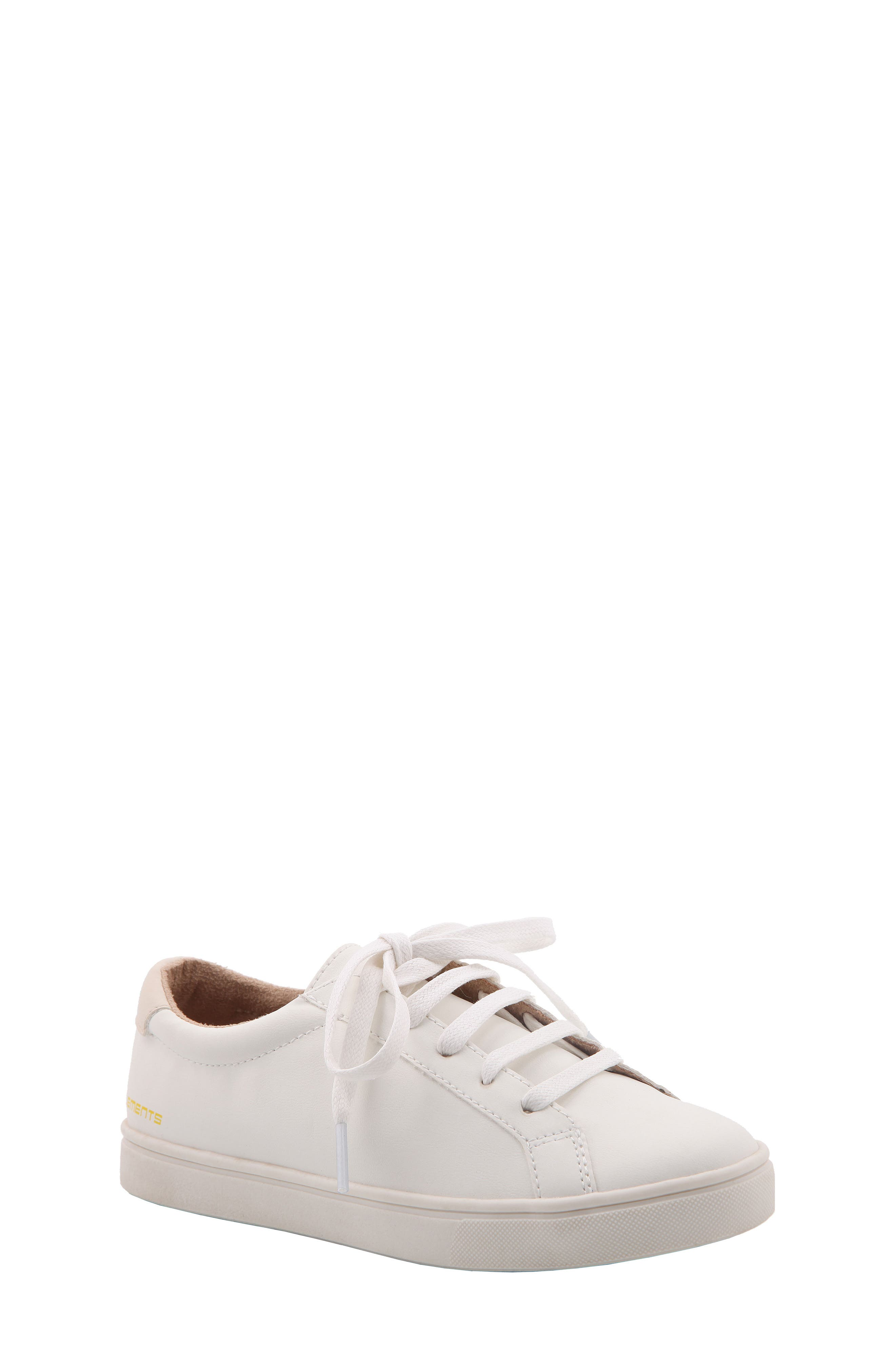 Chaz Sneaker,                         Main,                         color, White Faux Leather