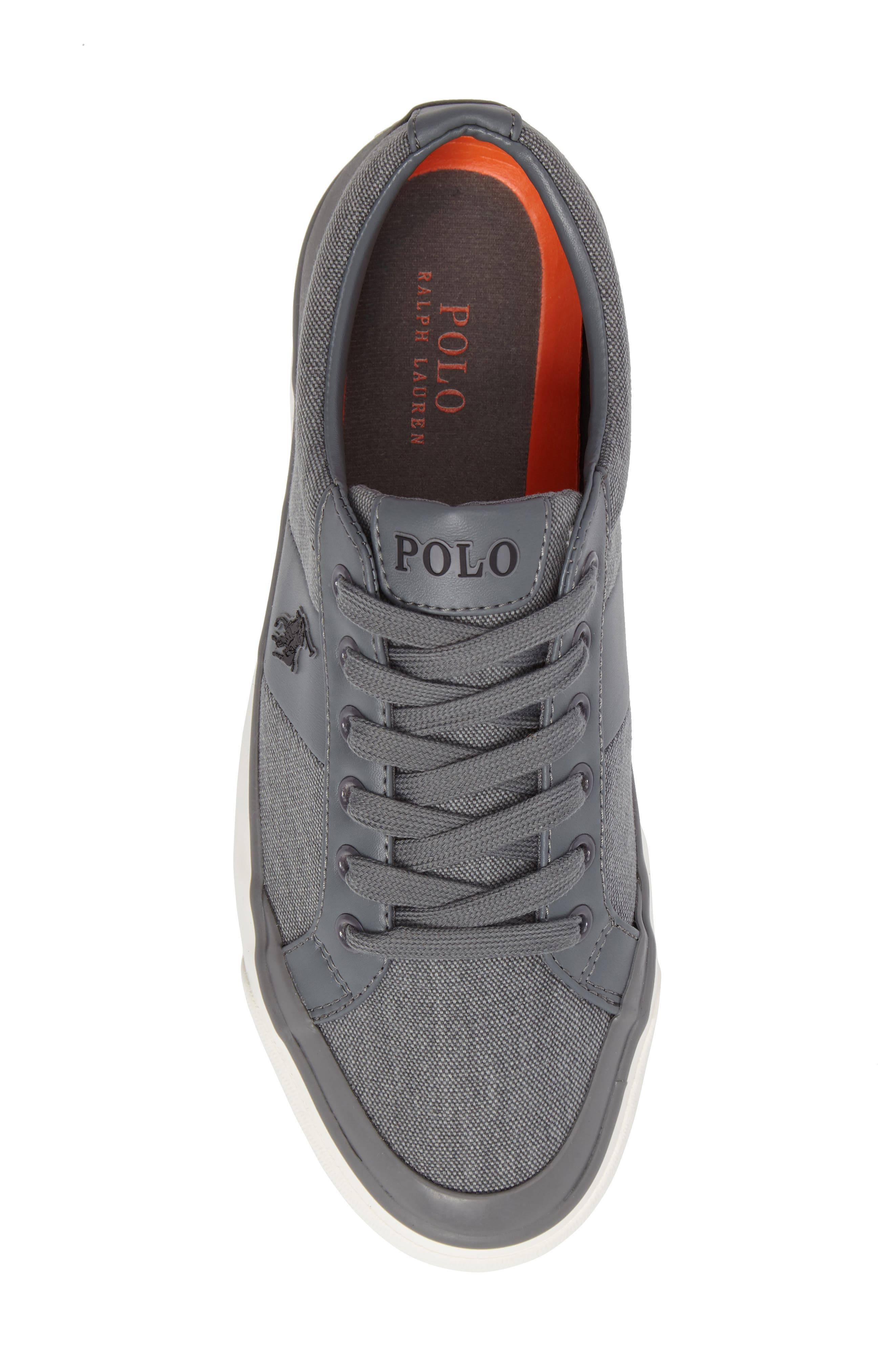 Polo Ralph Lauren Ian Sneaker,                             Alternate thumbnail 5, color,                             Slate