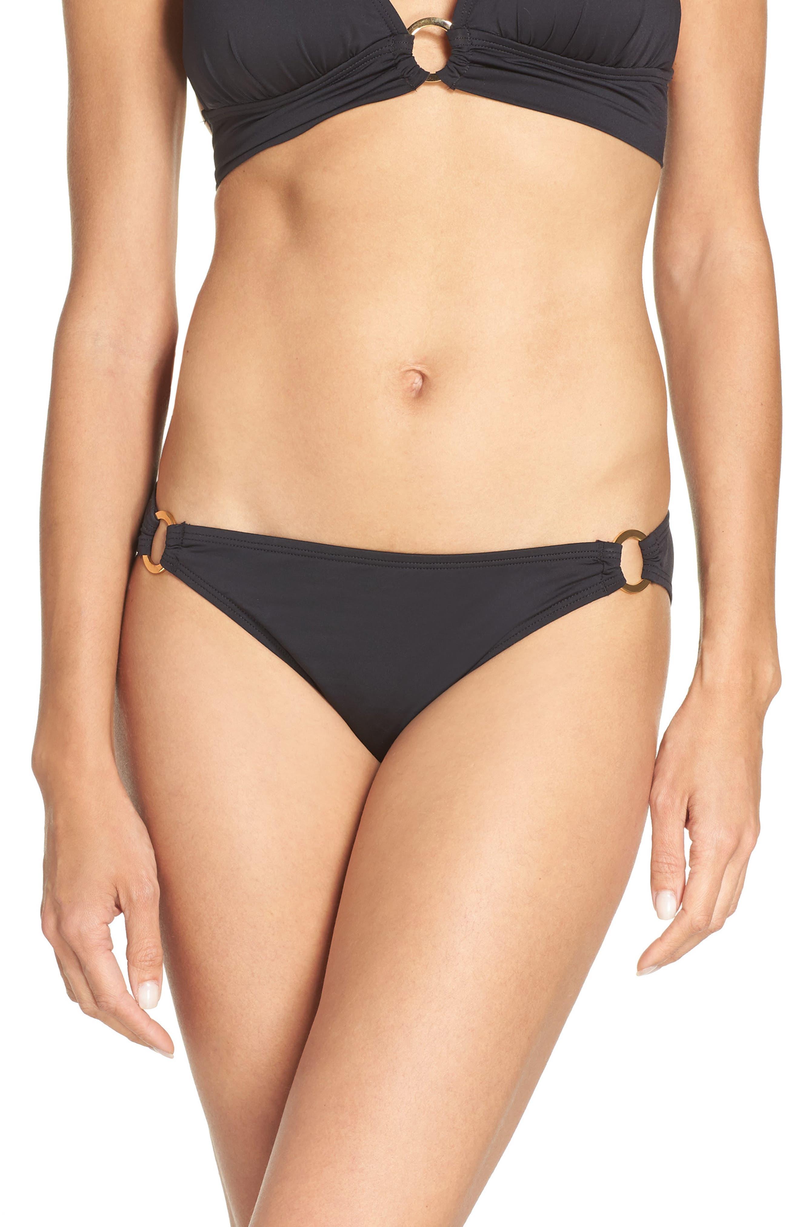 Pearl Bikini Bottoms,                         Main,                         color, Black