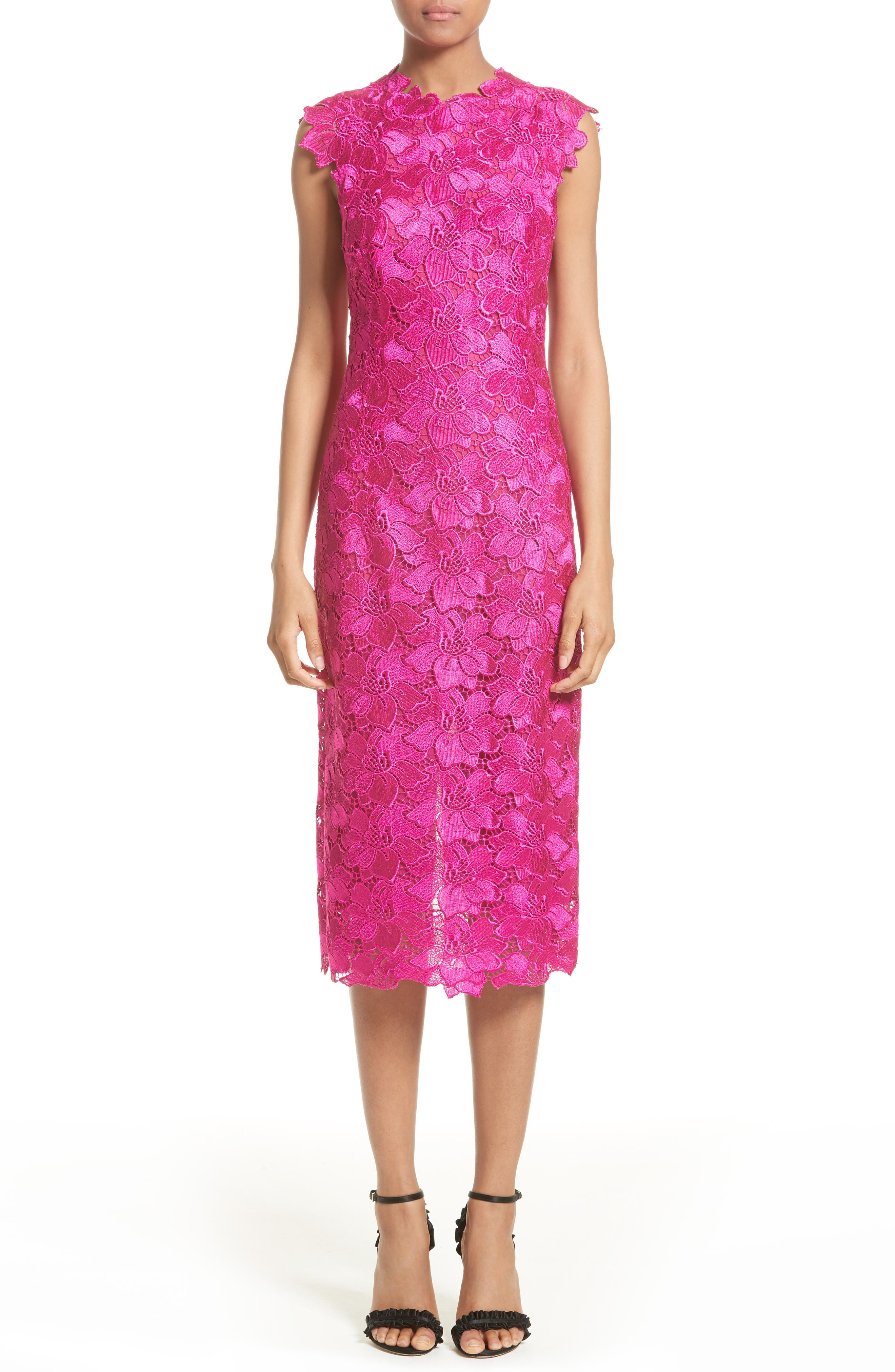 Monique Lhuillier Lace Sheath Dress