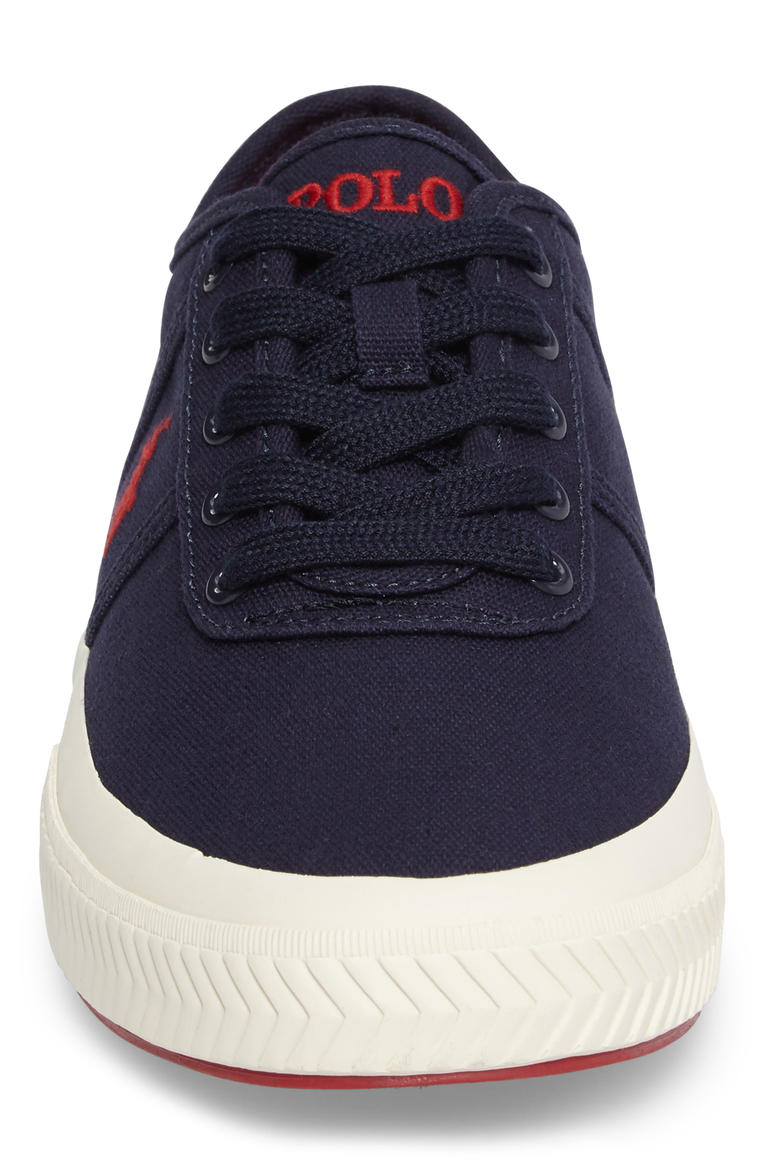 Polo Ralph Lauren Tyrian Sneaker,                             Alternate thumbnail 4, color,                             Newport Navy