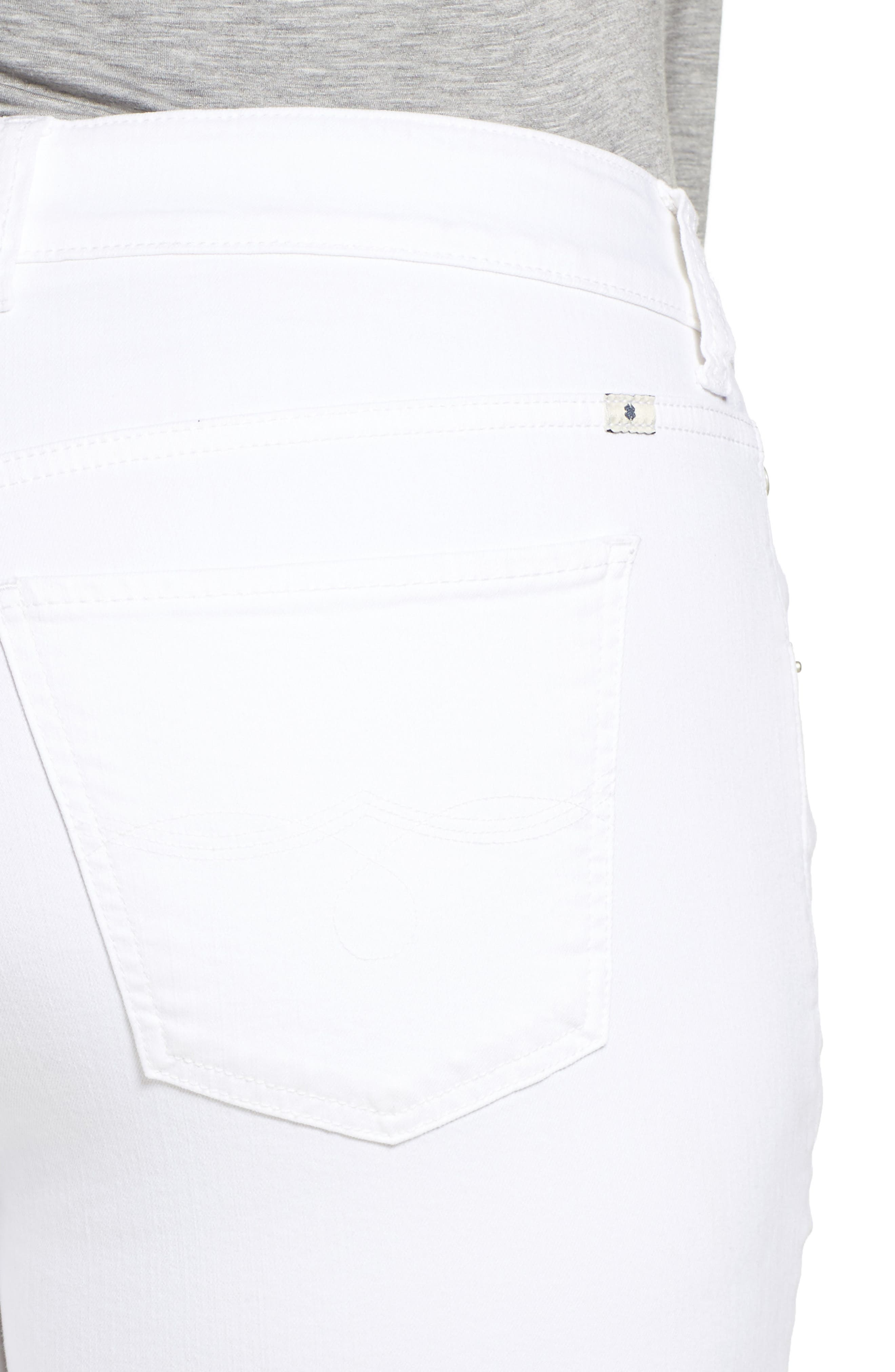 Emma Stretch Crop Jeans,                             Alternate thumbnail 4, color,                             Clean White