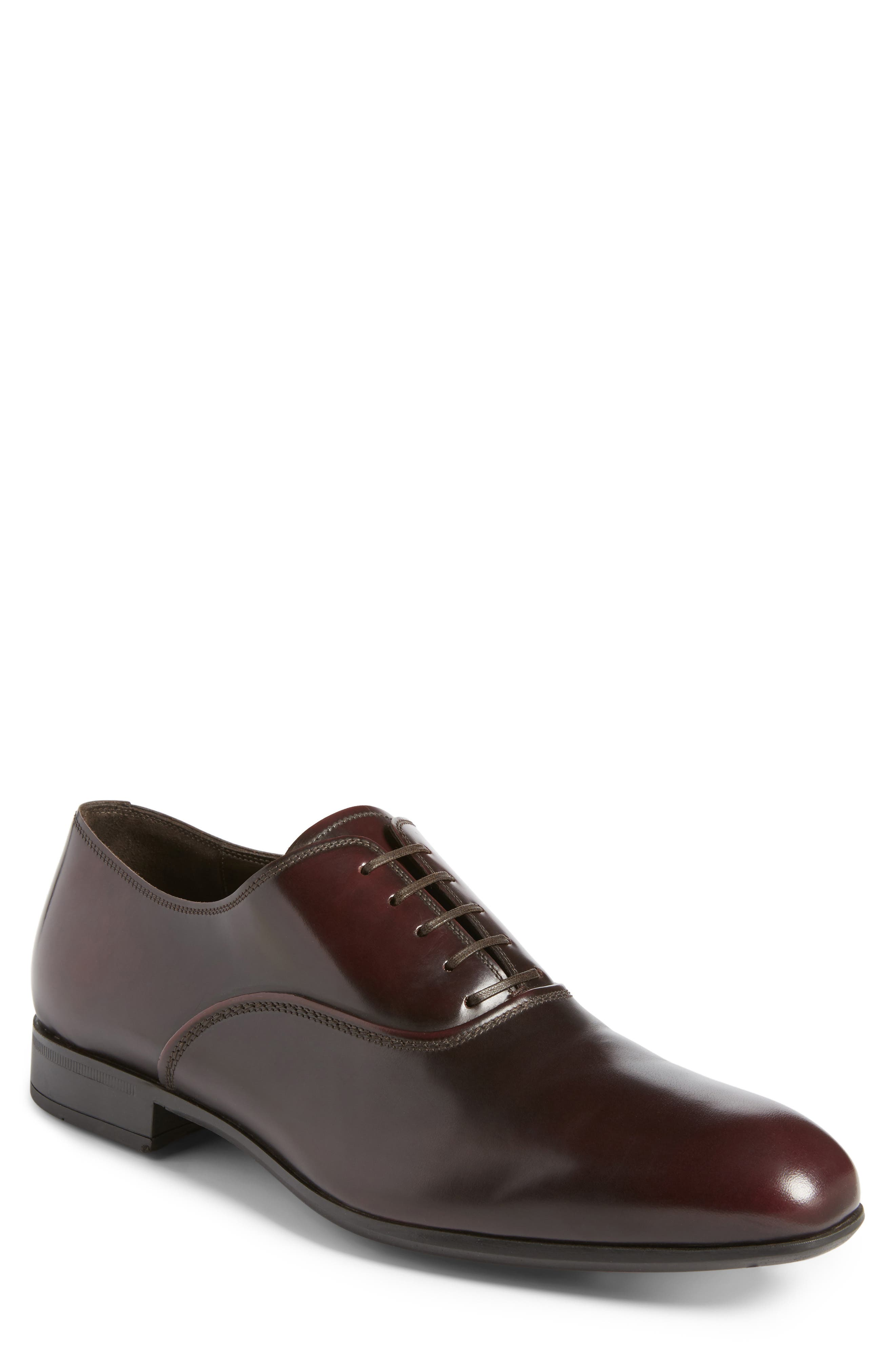 Salvatore Ferragamo Dunn Derby Plain Toe Oxford (Men)