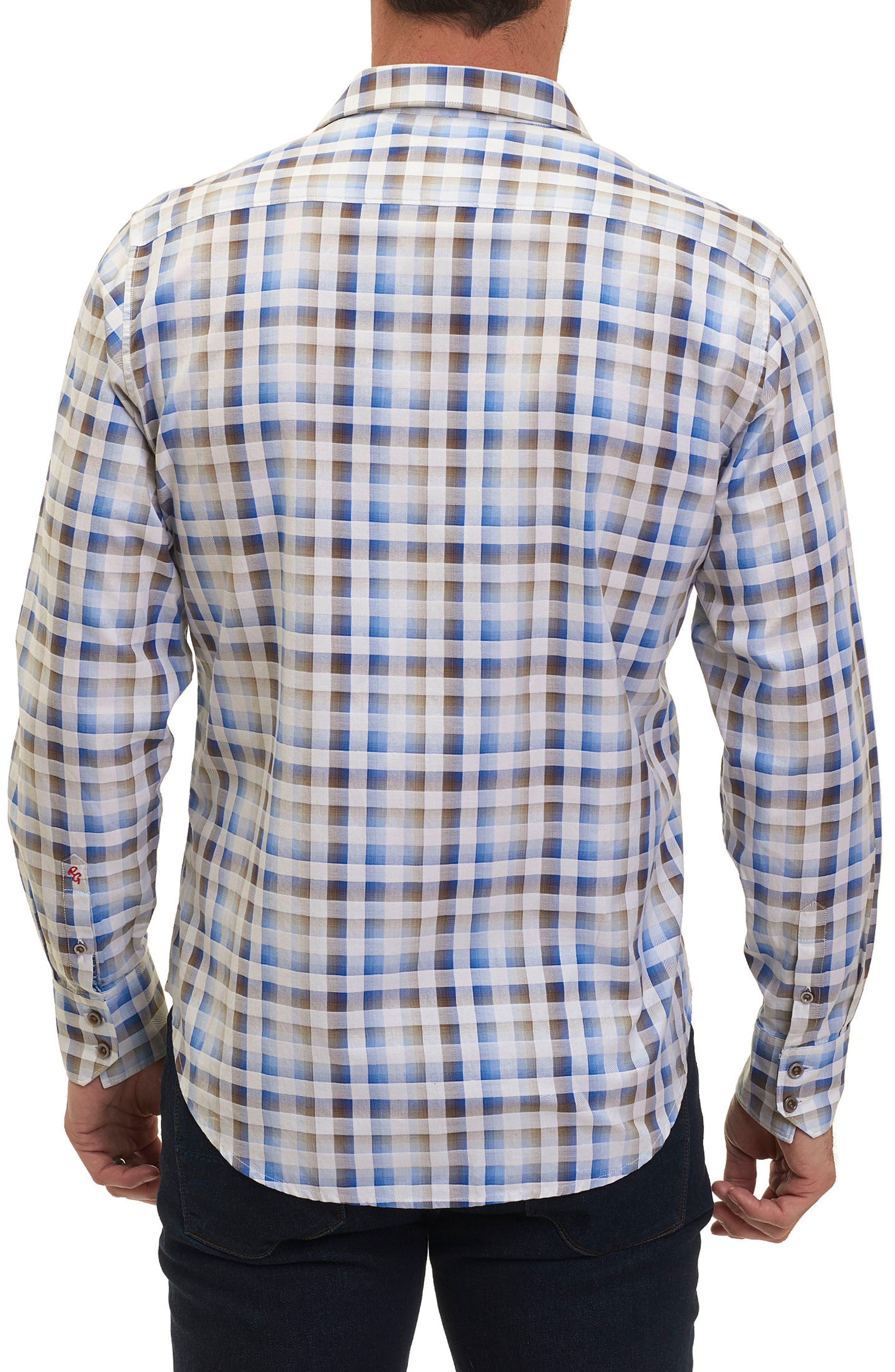 Dewan Classic Fit Check Sport Shirt,                             Alternate thumbnail 2, color,                             Blue