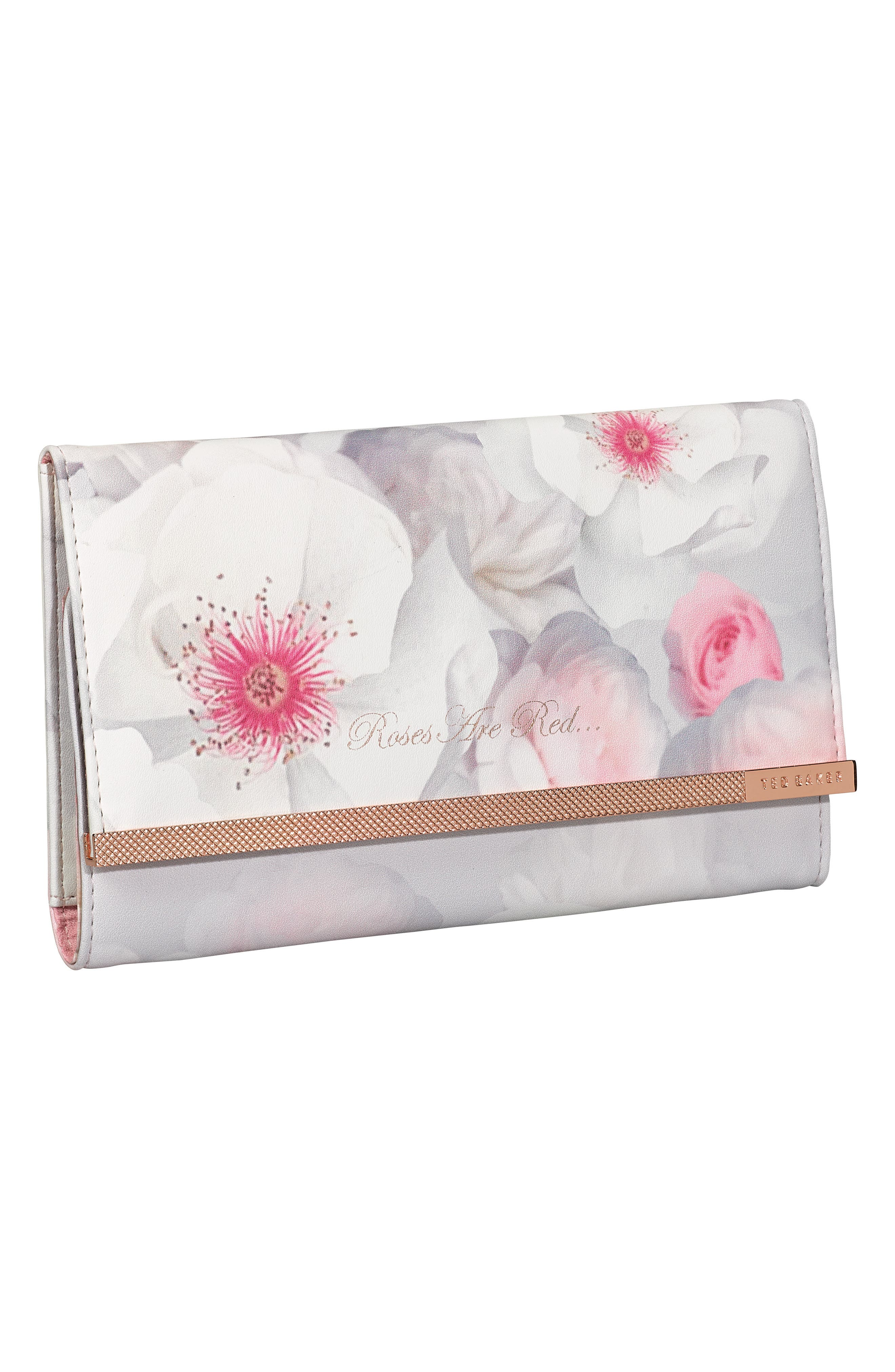 TED BAKER LONDON Faux Leather Jewelry Roll