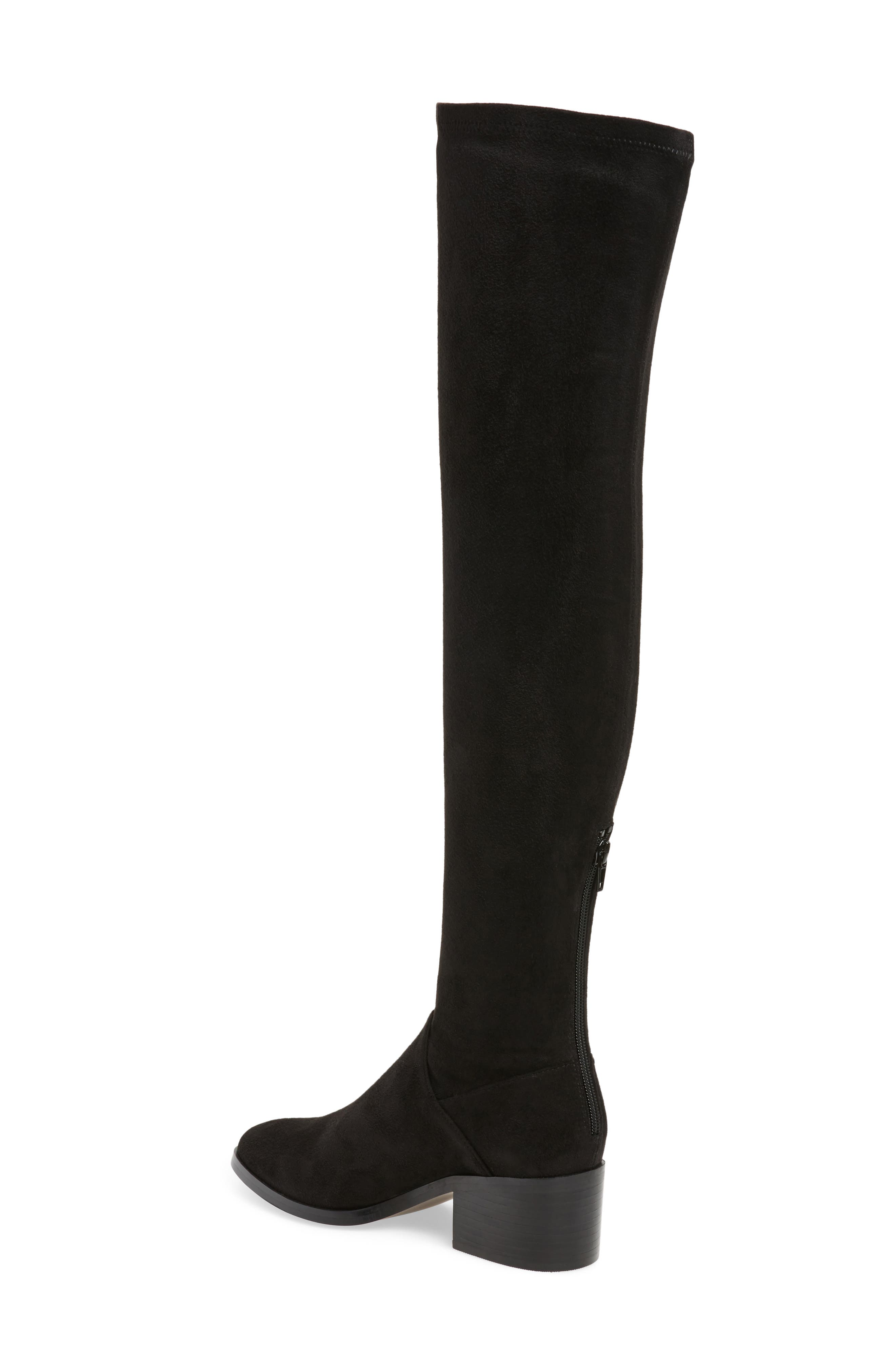 Gabbie Thigh High Boot,                             Alternate thumbnail 2, color,                             Black