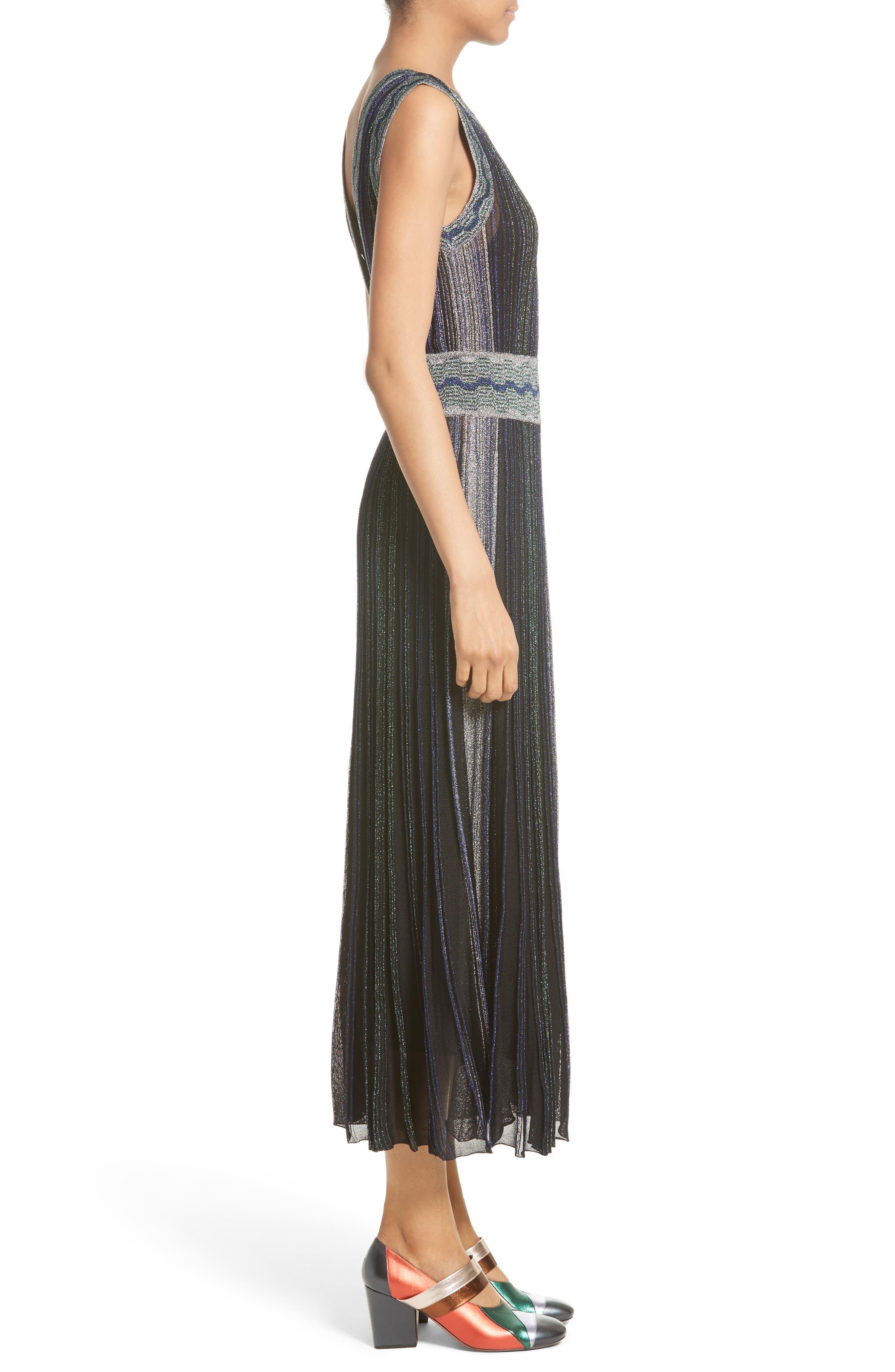 Alternate Image 6  - Missoni Reversible Metallic Rib Knit Dress