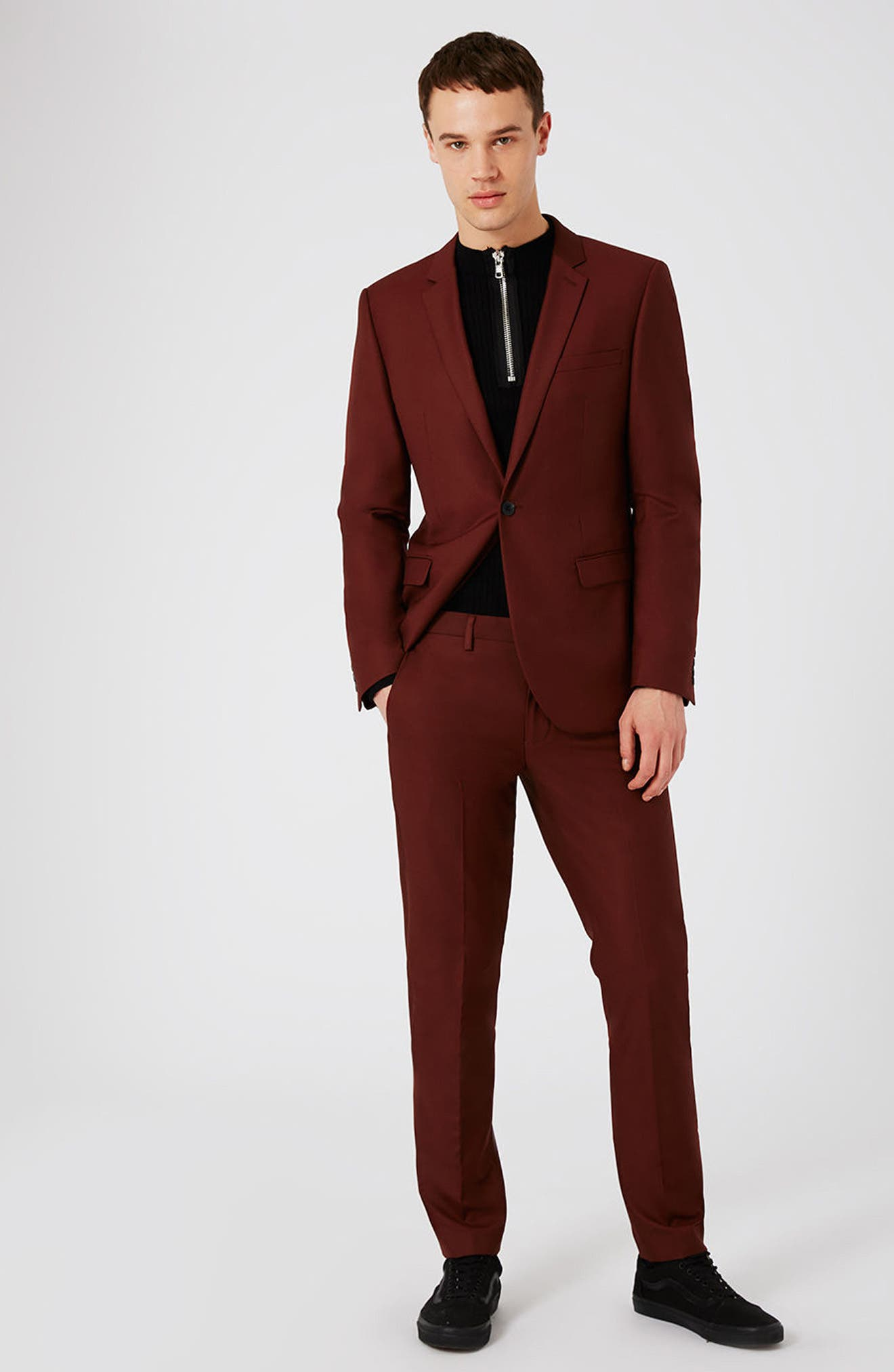 Alternate Image 7  - Topman Skinny Fit Suit Trousers