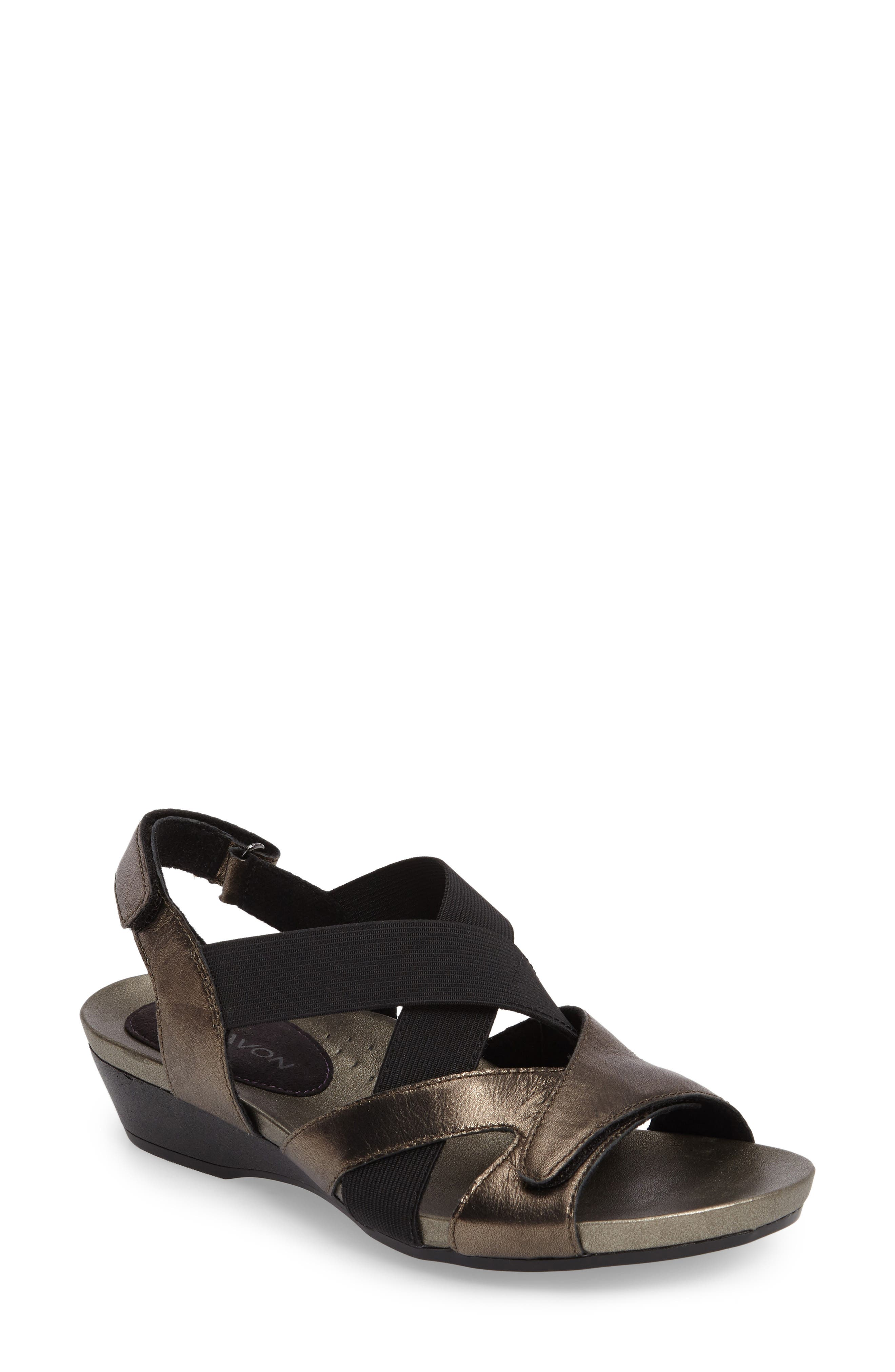 Standon Cross Strap Sandal,                             Main thumbnail 1, color,                             Pewter Fabric