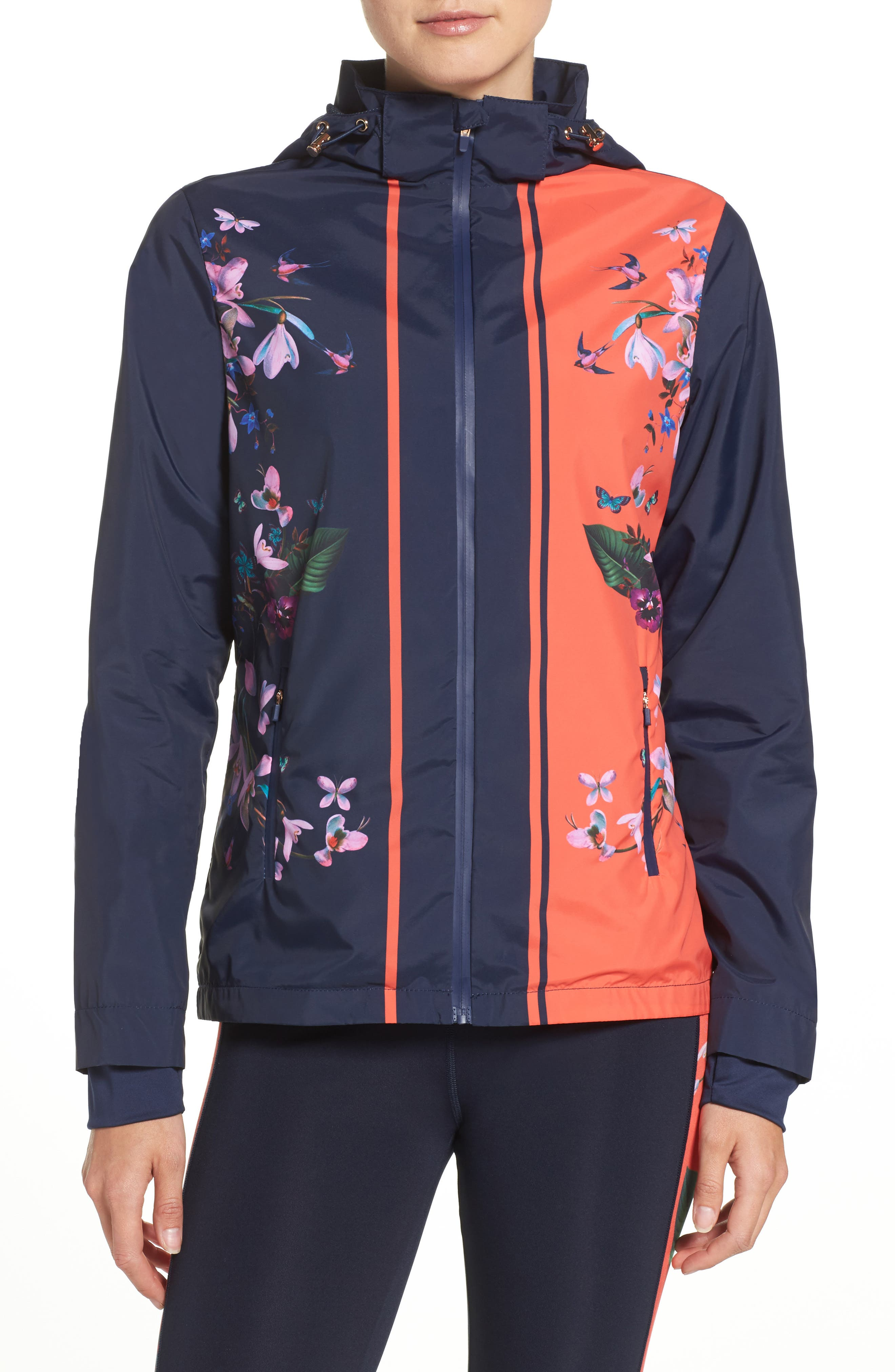 TED BAKER LONDON Tropical Oasis Hooded Jacket