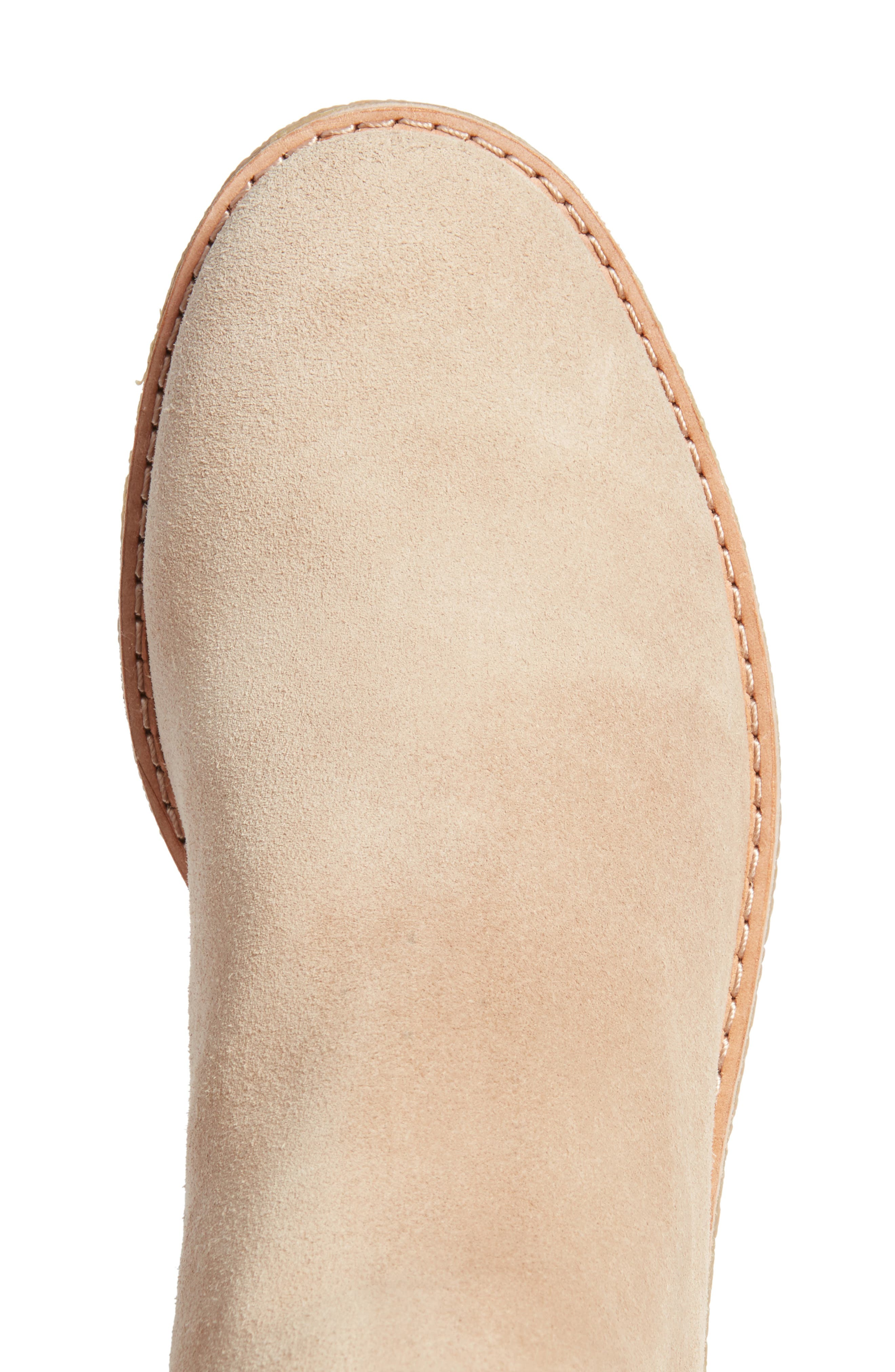 belleville bootie,                             Alternate thumbnail 5, color,                             Desert Cow Suede