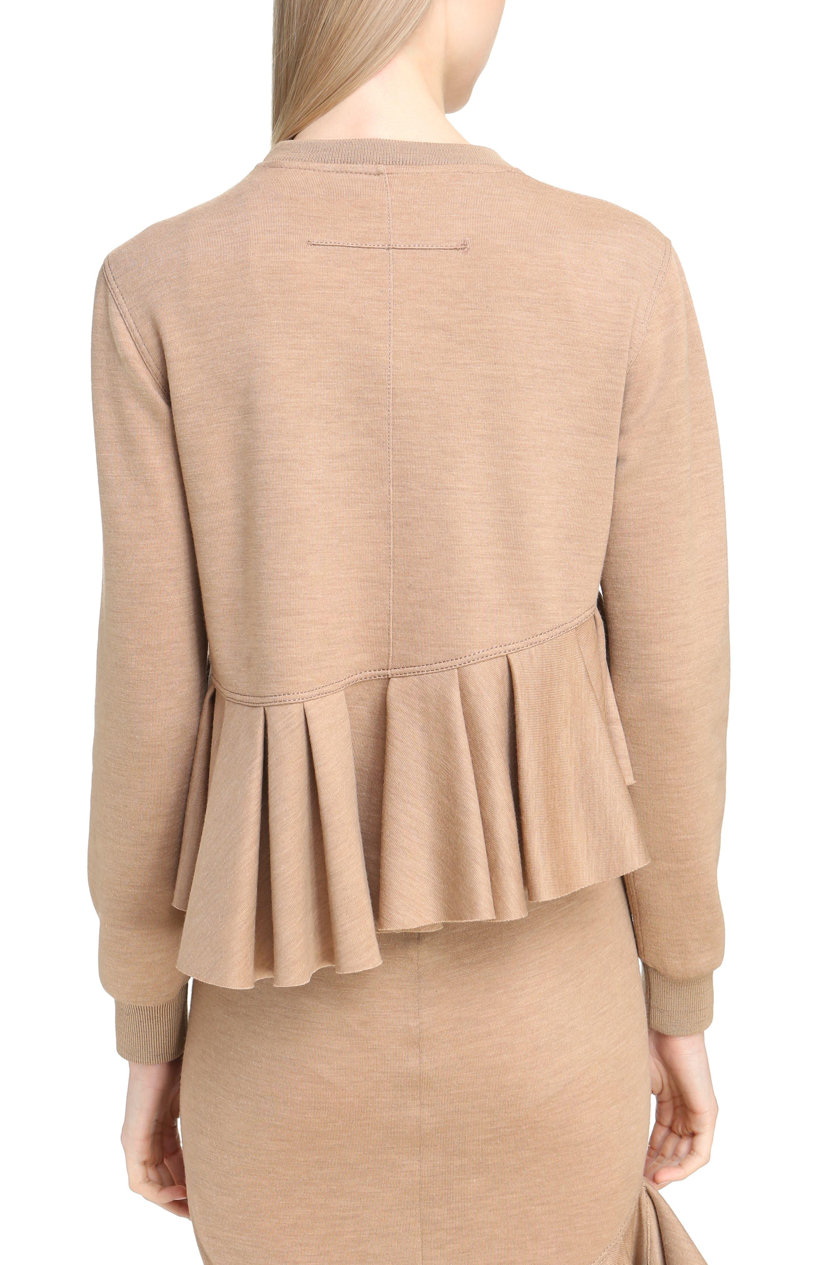 Alternate Image 2  - Givenchy Ruffled Wool Sweatshirt