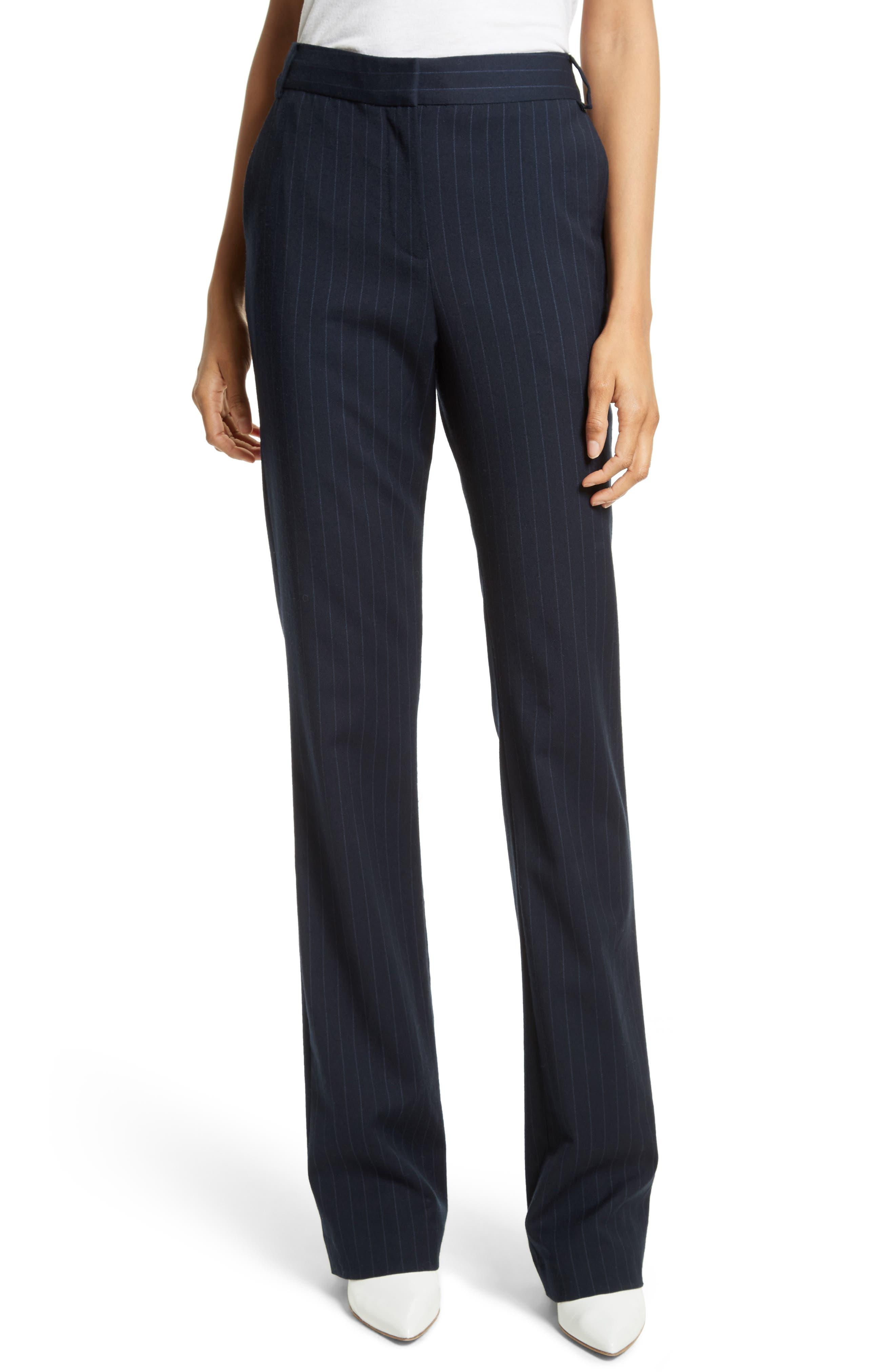 Delmont Bootcut Pants,                         Main,                         color, Navy/ Cobalt