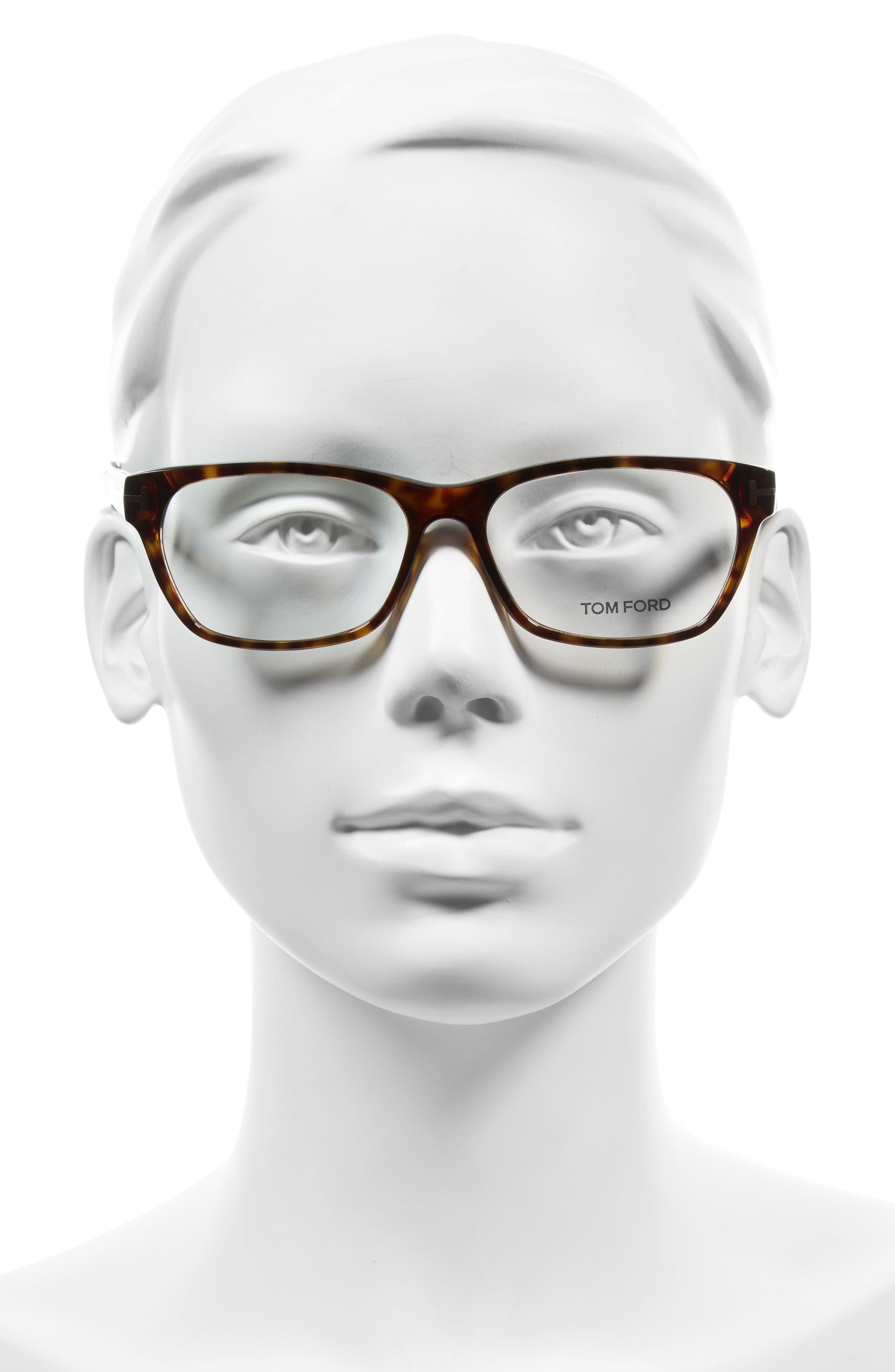 54mm Optical Glasses,                             Alternate thumbnail 2, color,                             Dark Havana