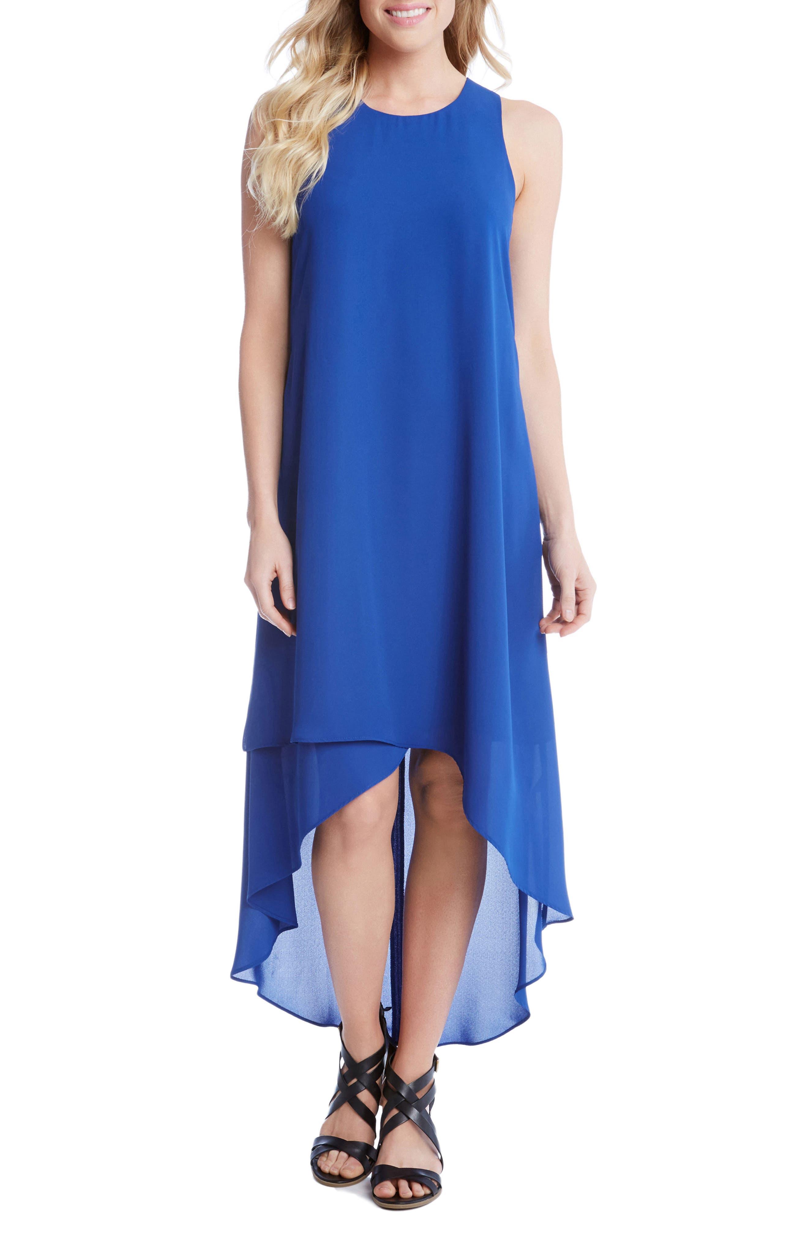 Main Image - Karen Kane High/Low Crepe Dress
