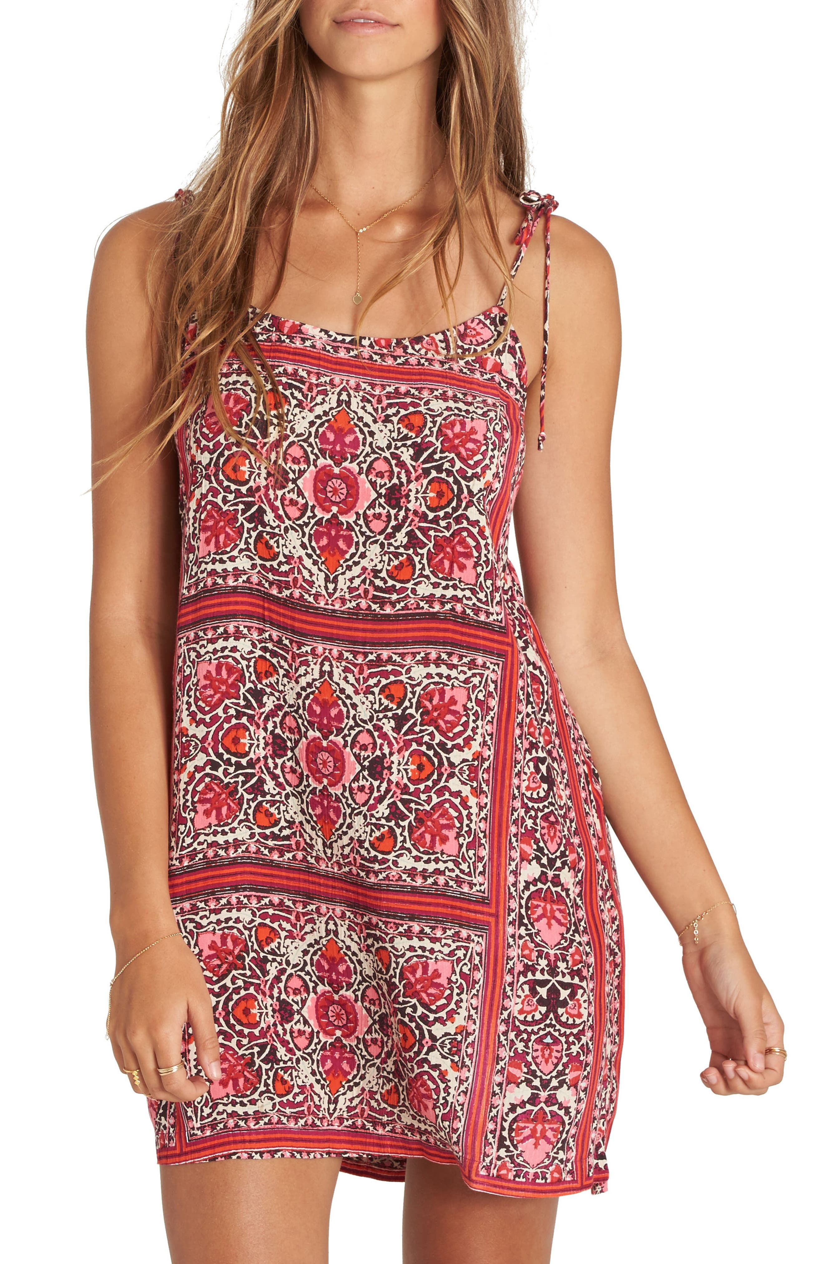 Billabong Night Out Print Minidress