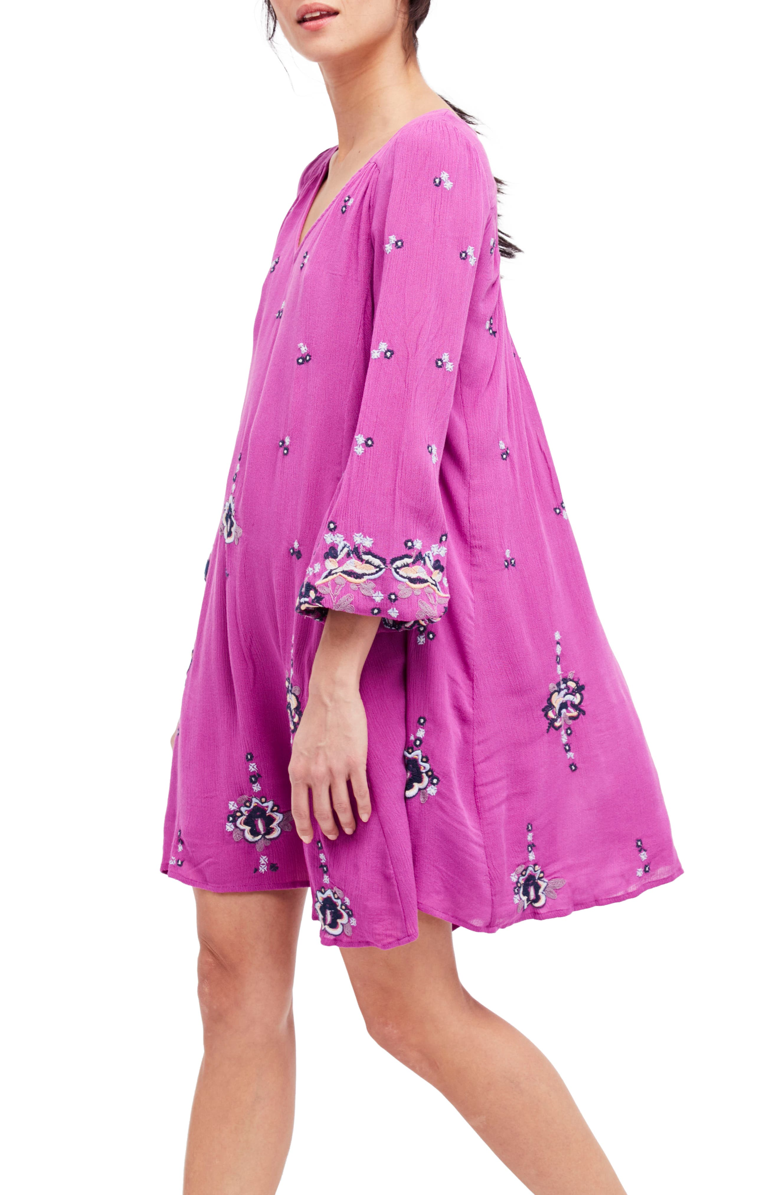 Alternate Image 1 Selected - Free People Embroidered Minidress