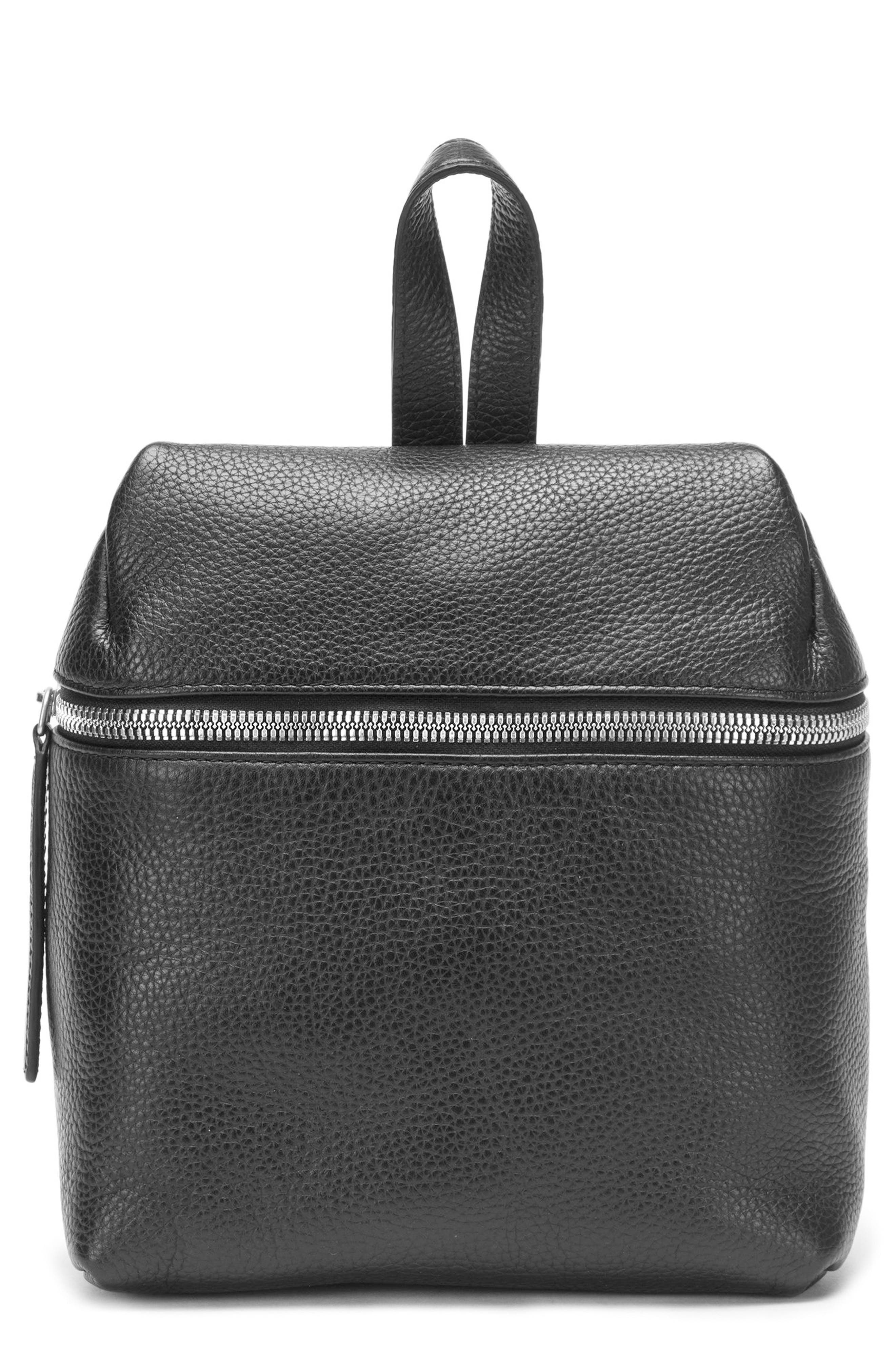 Alternate Image 1 Selected - KARA Small Pebbled Leather Backpack