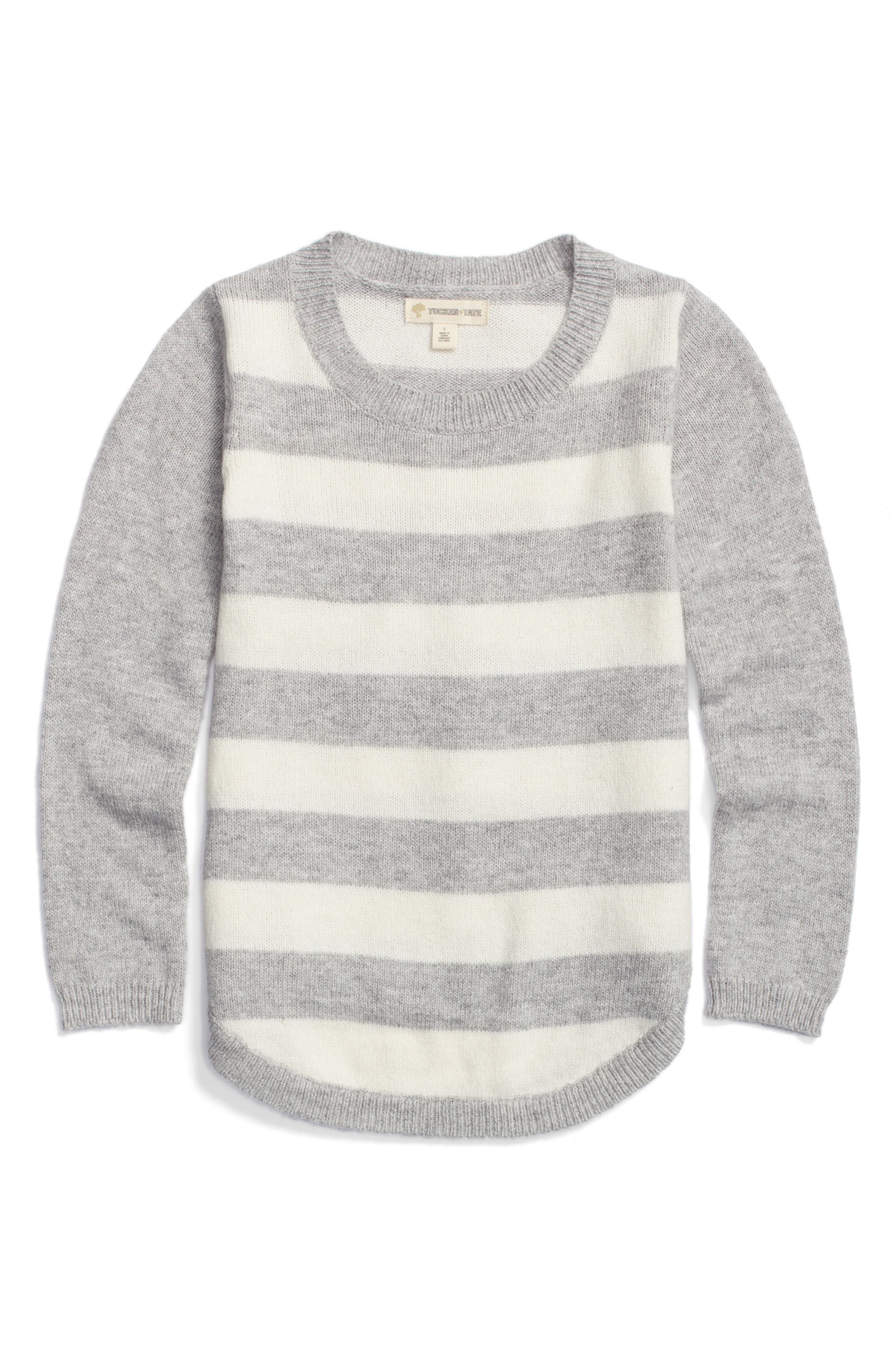 Tucker + Tate Stripe Sweater (Toddler Girls, Little Girls & Big Girls)