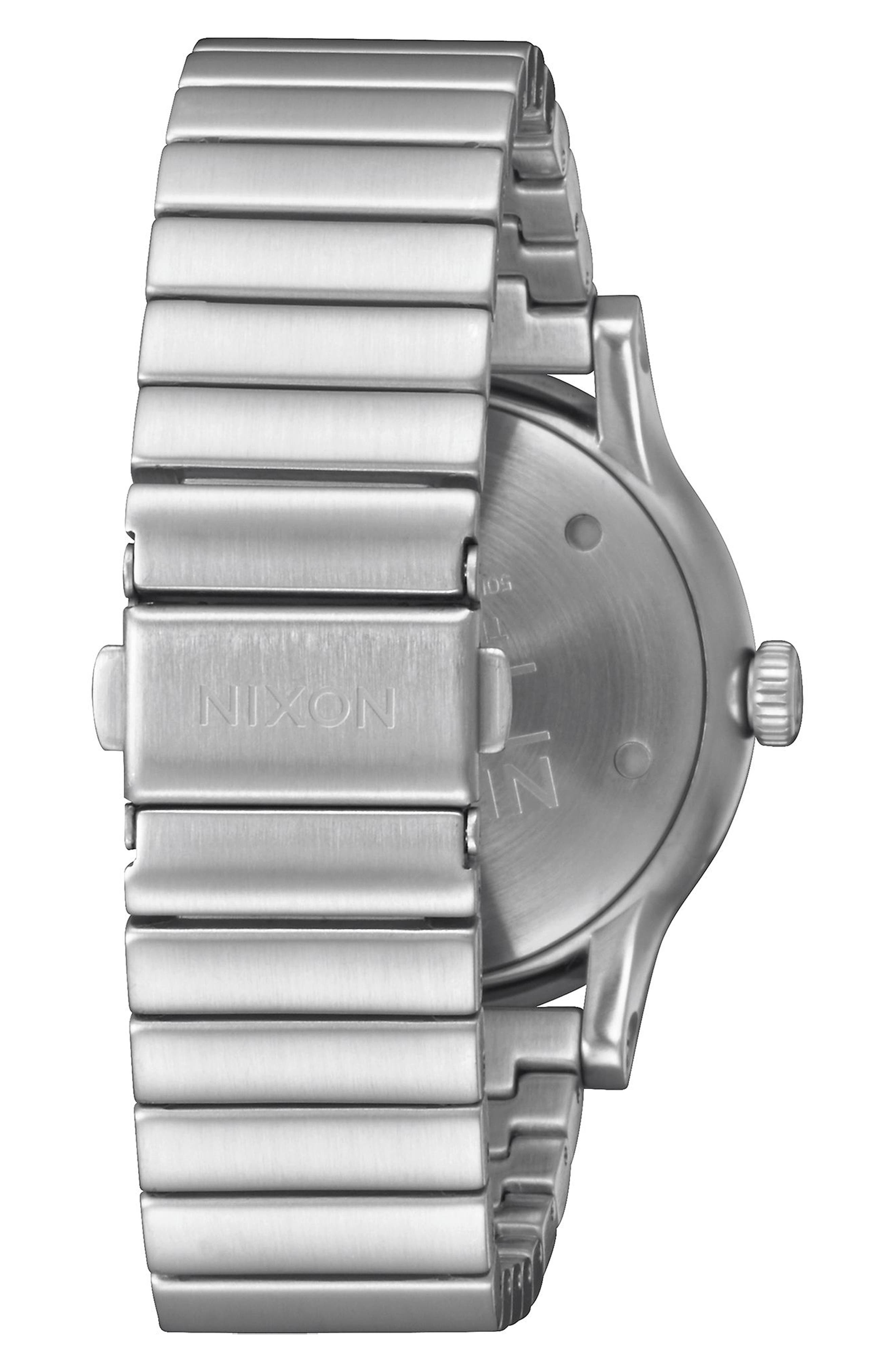 Station Bracelet Watch, 41mm,                             Alternate thumbnail 2, color,                             Silver/ White/ Silver