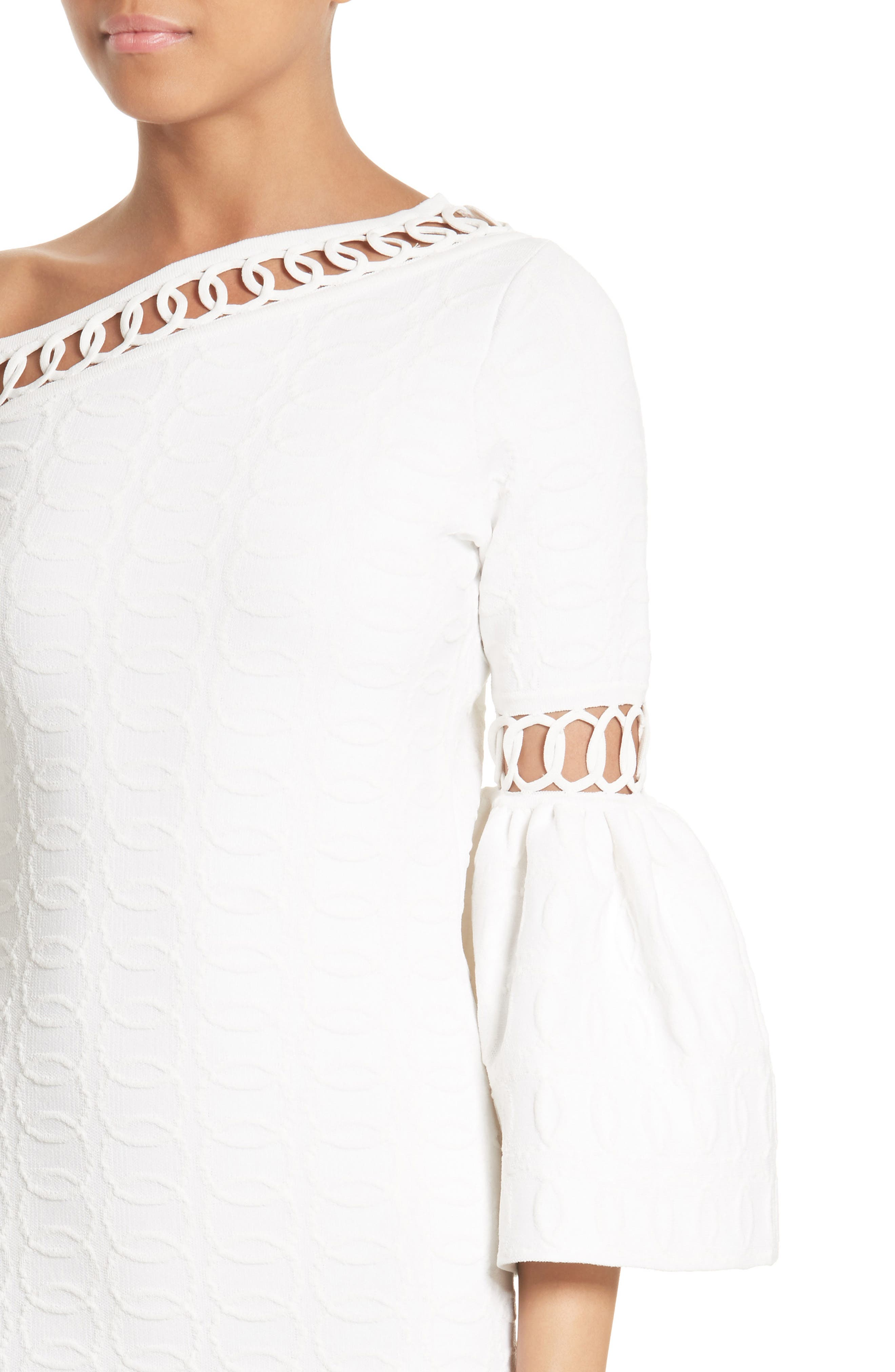 Alternate Image 4  - Jonathan Simkhai Chain Link Lace Fit & Flare Dress
