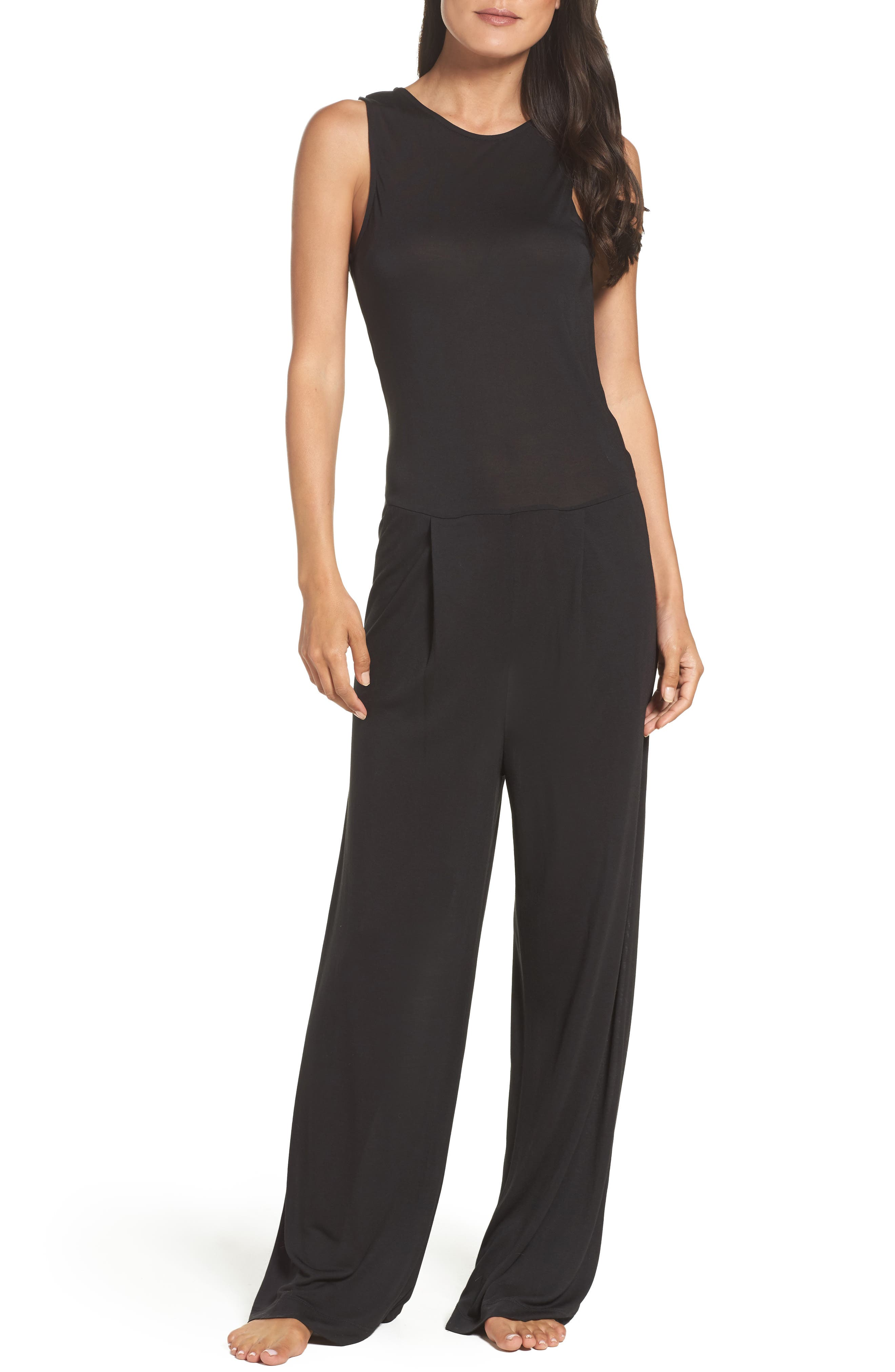 Alternate Image 1 Selected - DKNY Pleat Front Jumpsuit