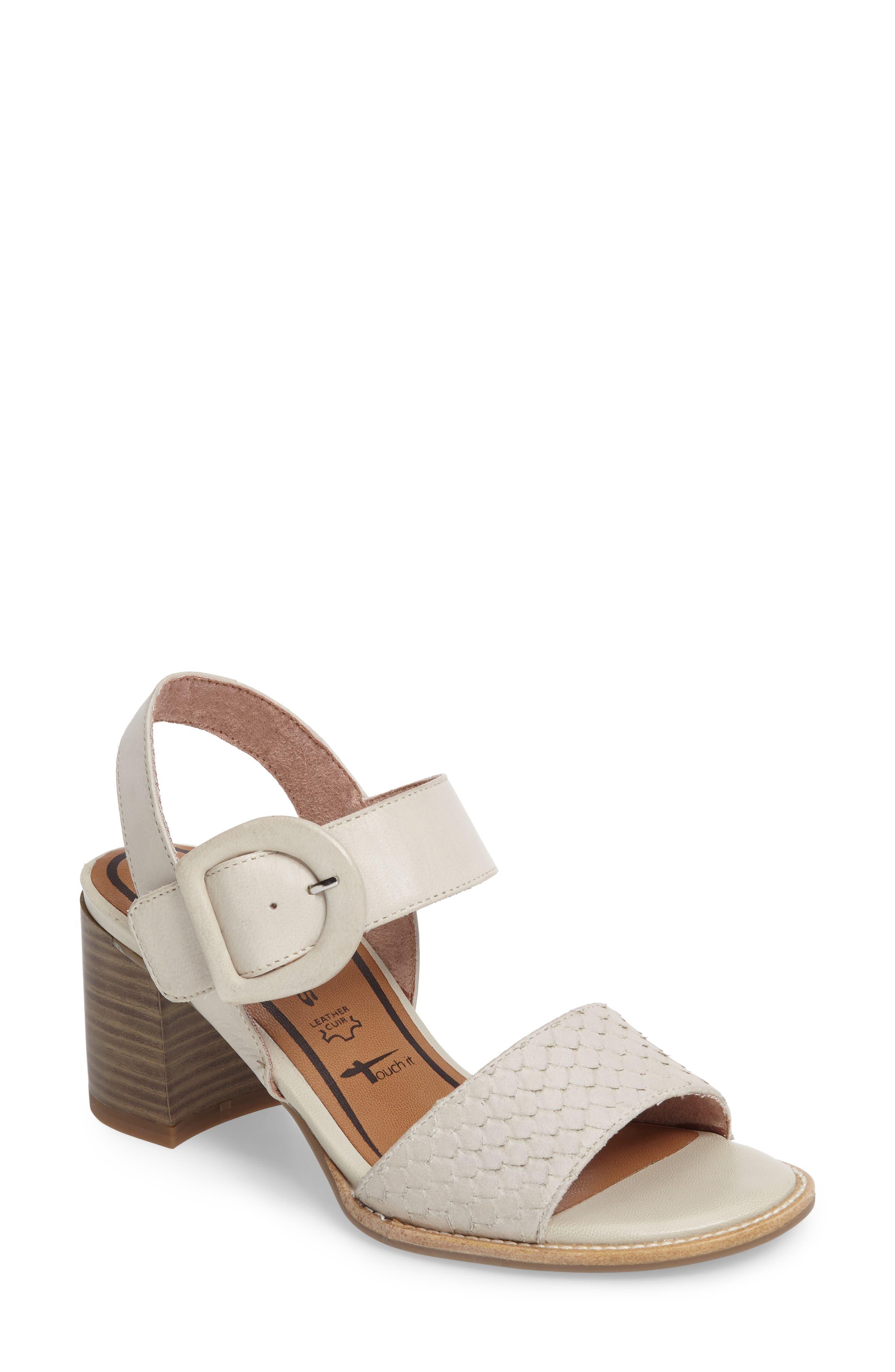 Alternate Image 1 Selected - Tamaris Danni Block Heel Sandal (Women)