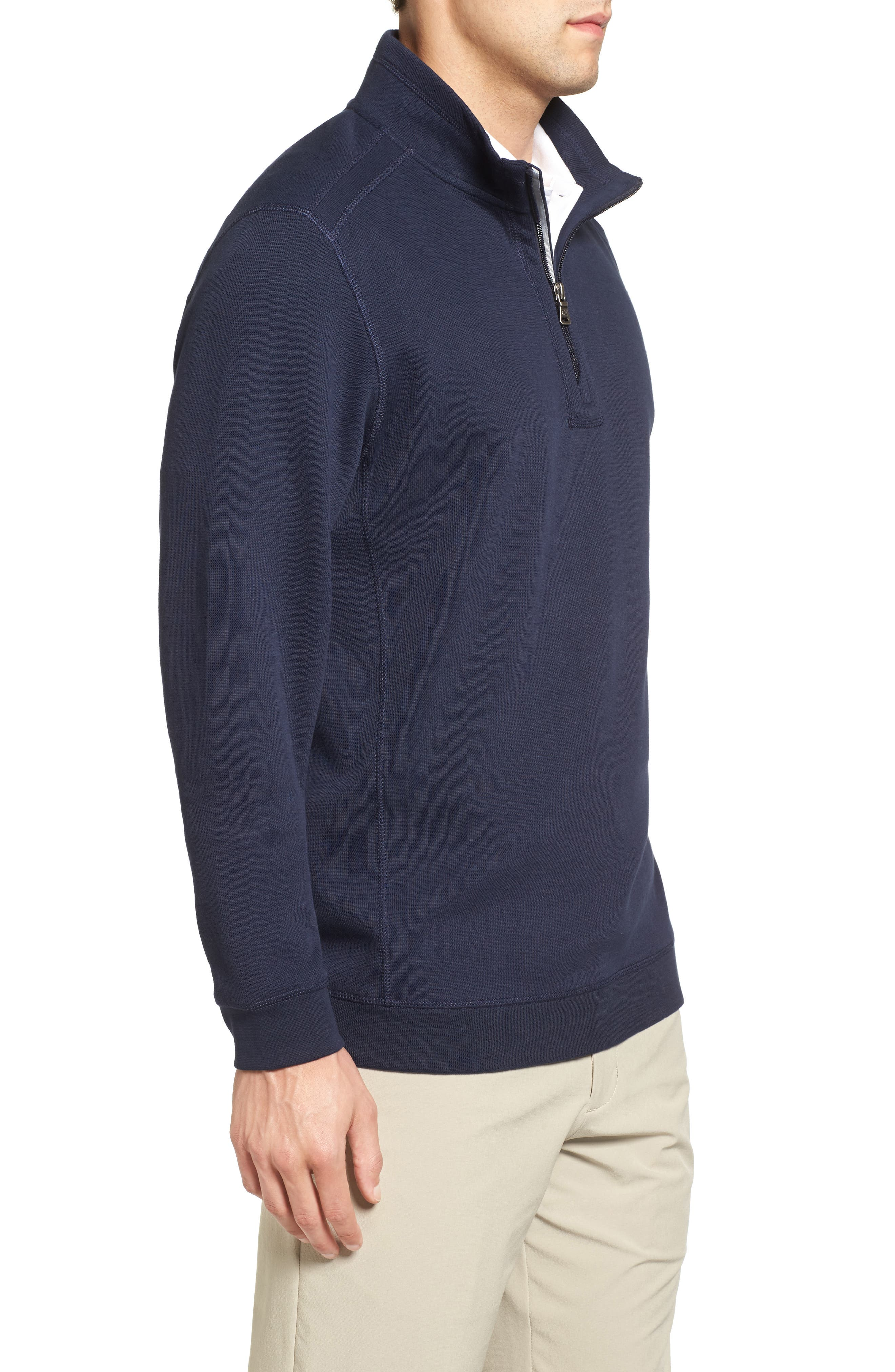 Bayview Quarter Zip Pullover,                             Alternate thumbnail 3, color,                             Liberty Navy